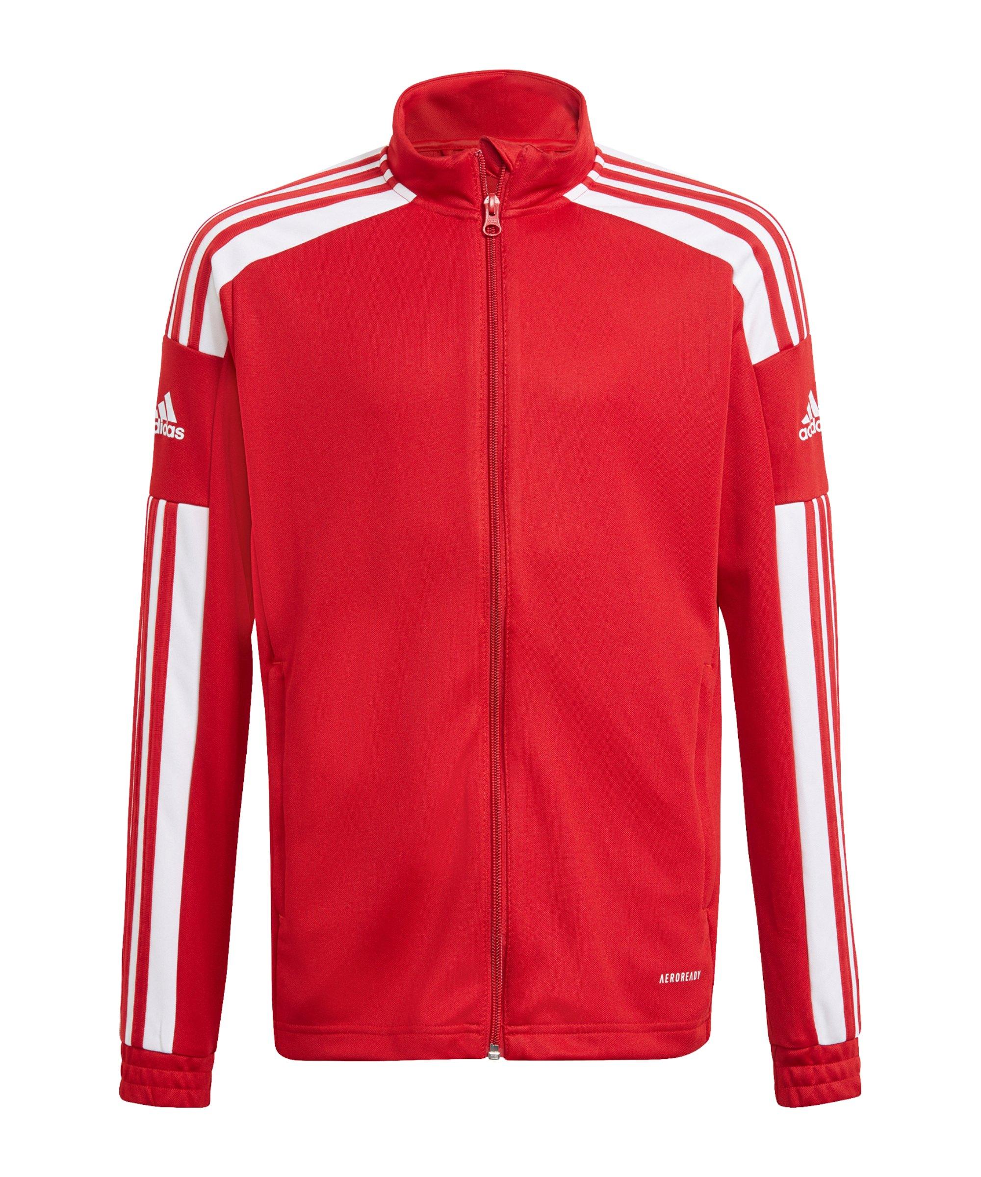 adidas Squadra 21 Trainingsjacke Kids Rot Weiss - rot