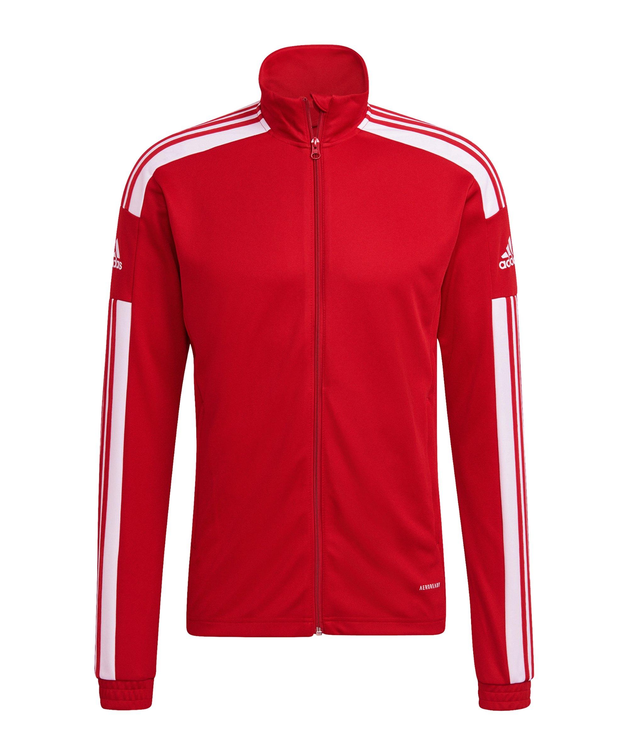 adidas Squadra 21 Trainingsjacke Rot Weiss - rot