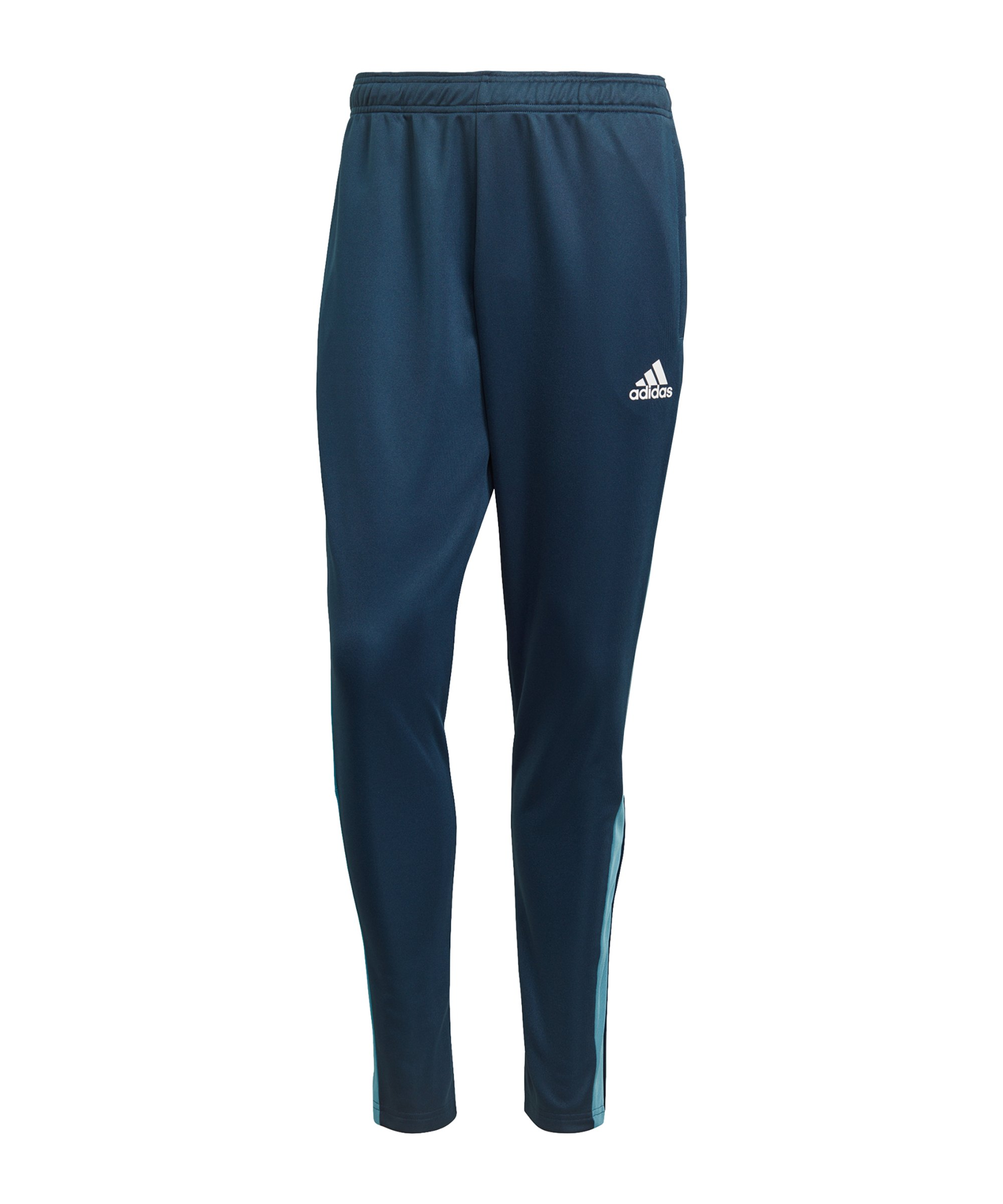 adidas Tiro Trainingshose Blau Weiss - blau