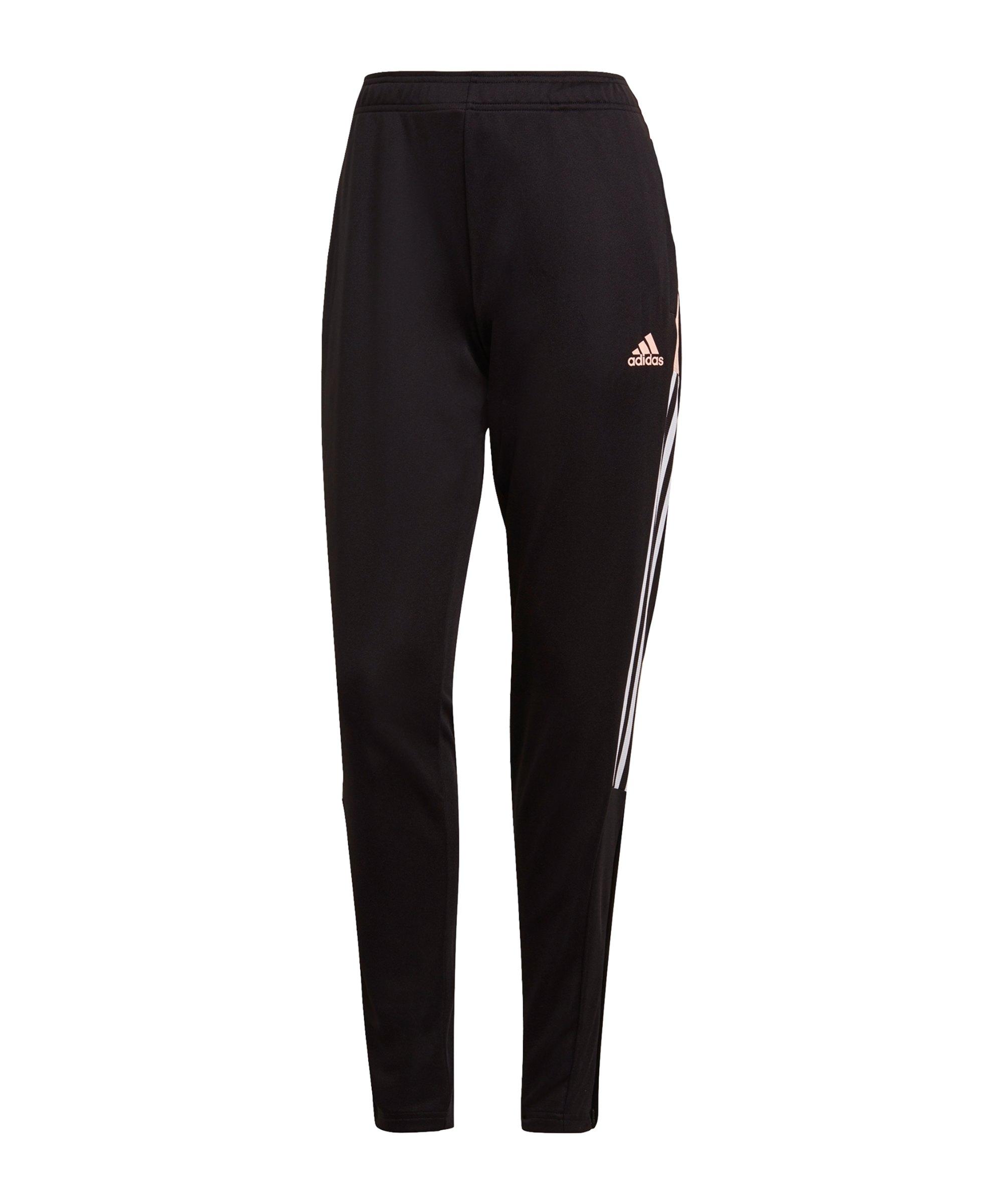 adidas Tiro Trainingshose Damen Schwarz Pink - schwarz