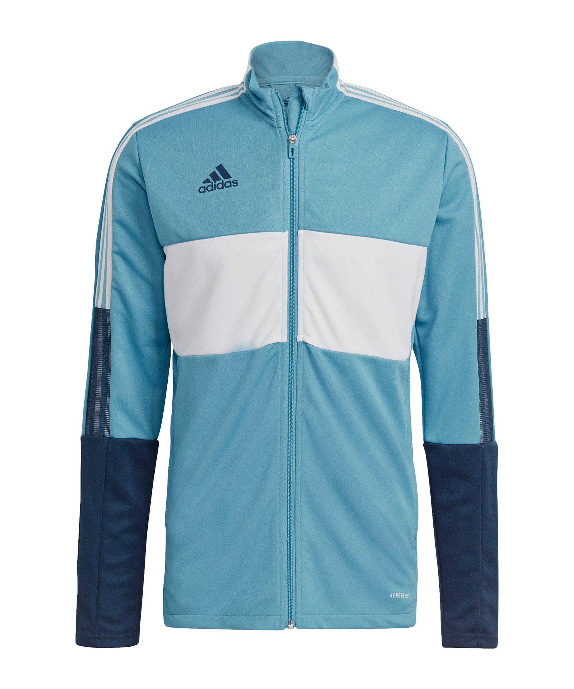 adidas Tiro Trainingsjacke Blau Weiss - blau