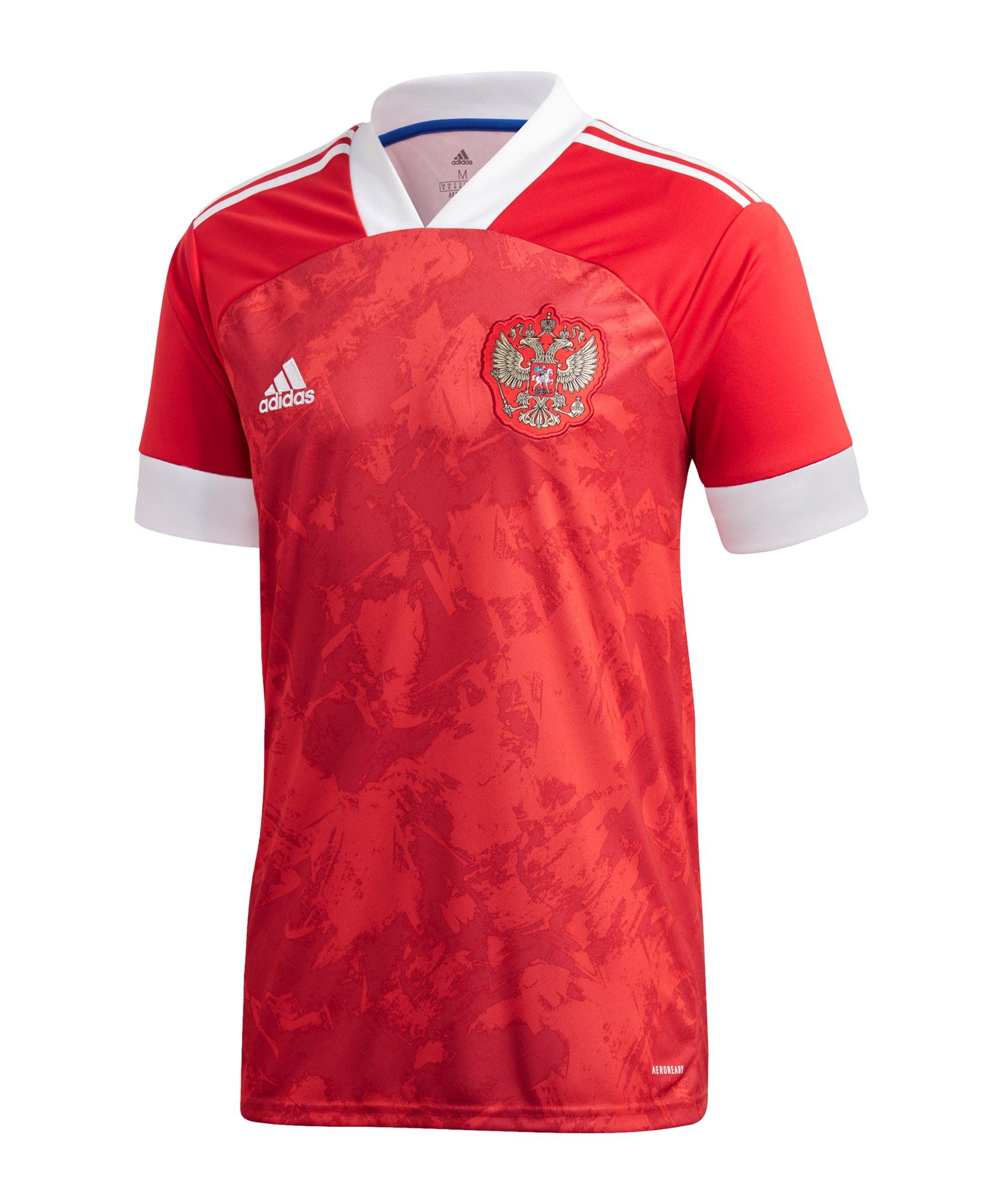 adidas Russland Trikot Home EM 2020 Rot Weiss - rot
