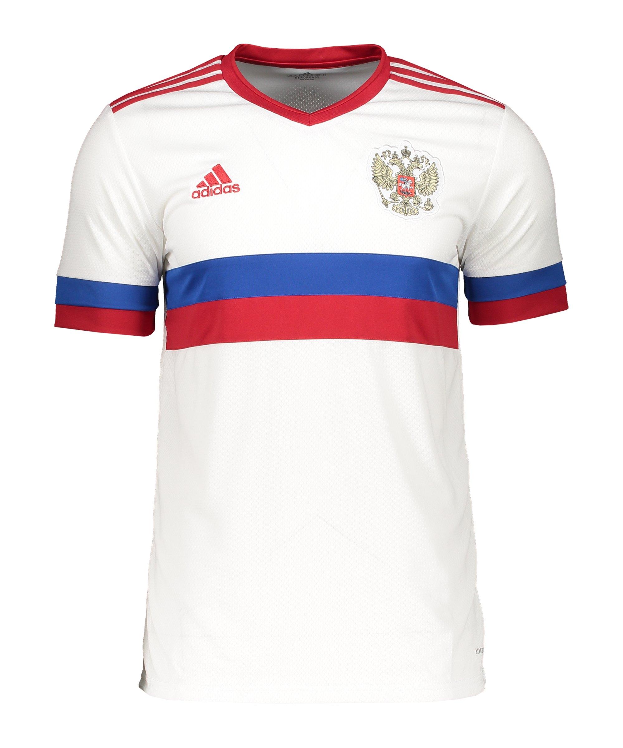 adidas Russland Trikot Away EM 2020 Kids Weiss Rot - weiss