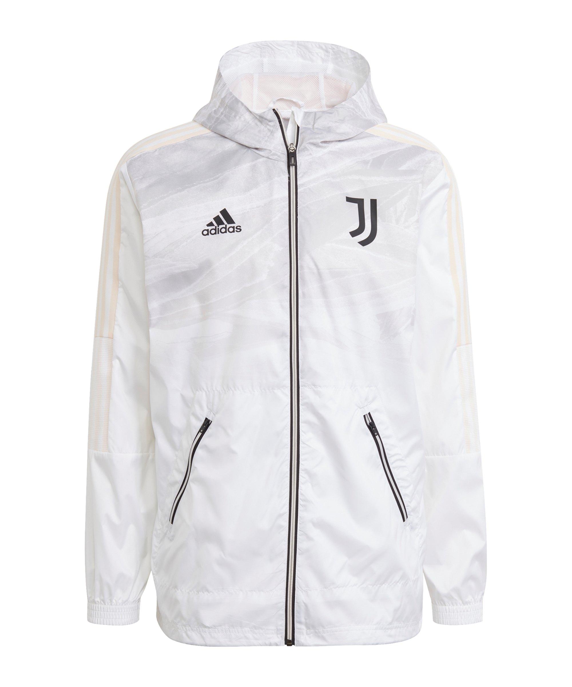 adidas Juventus Turin Windbreaker Weiss - weiss