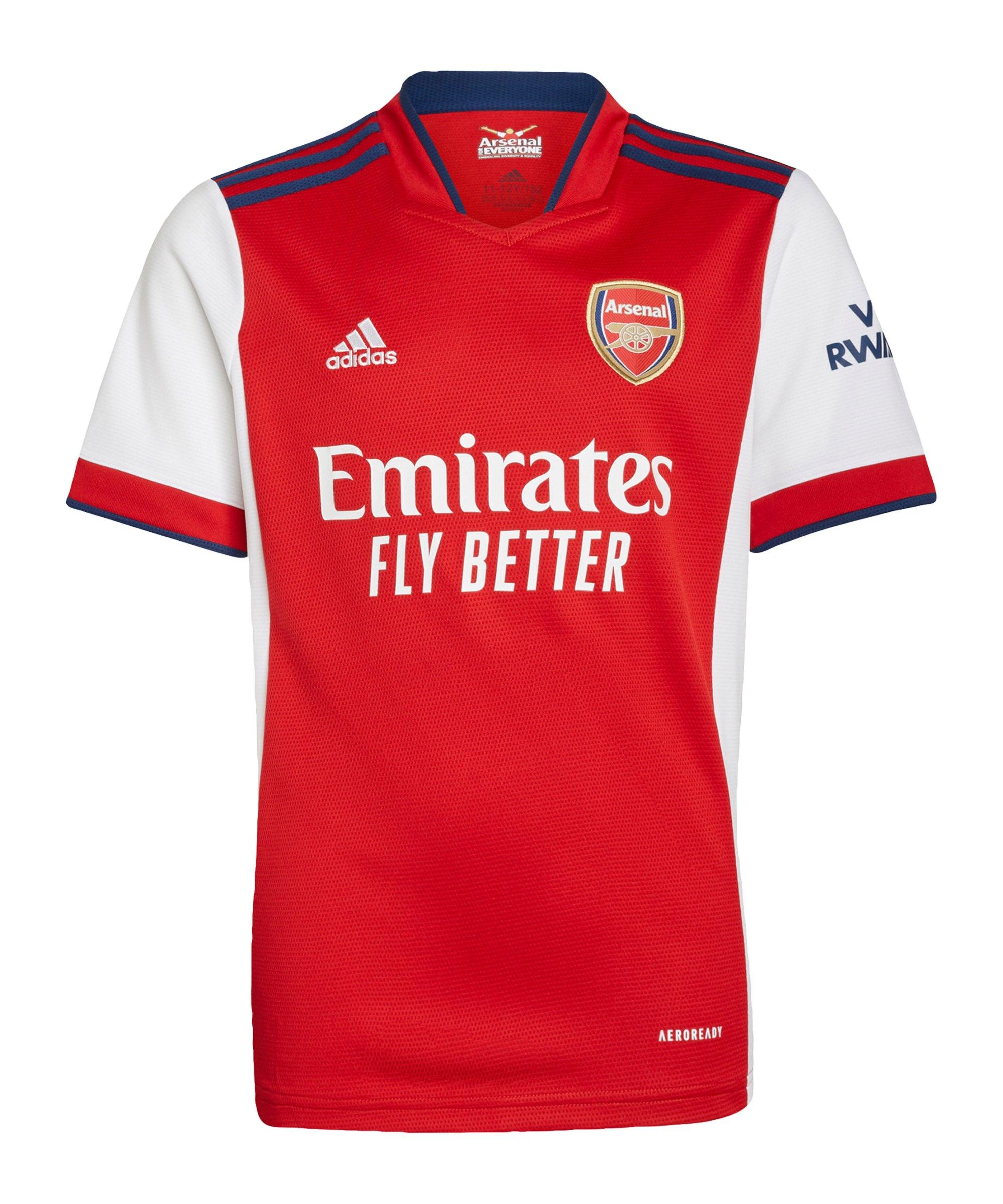 adidas FC Arsenal London Trikot Home 2021/2022 Kids Rot Weiss - rot