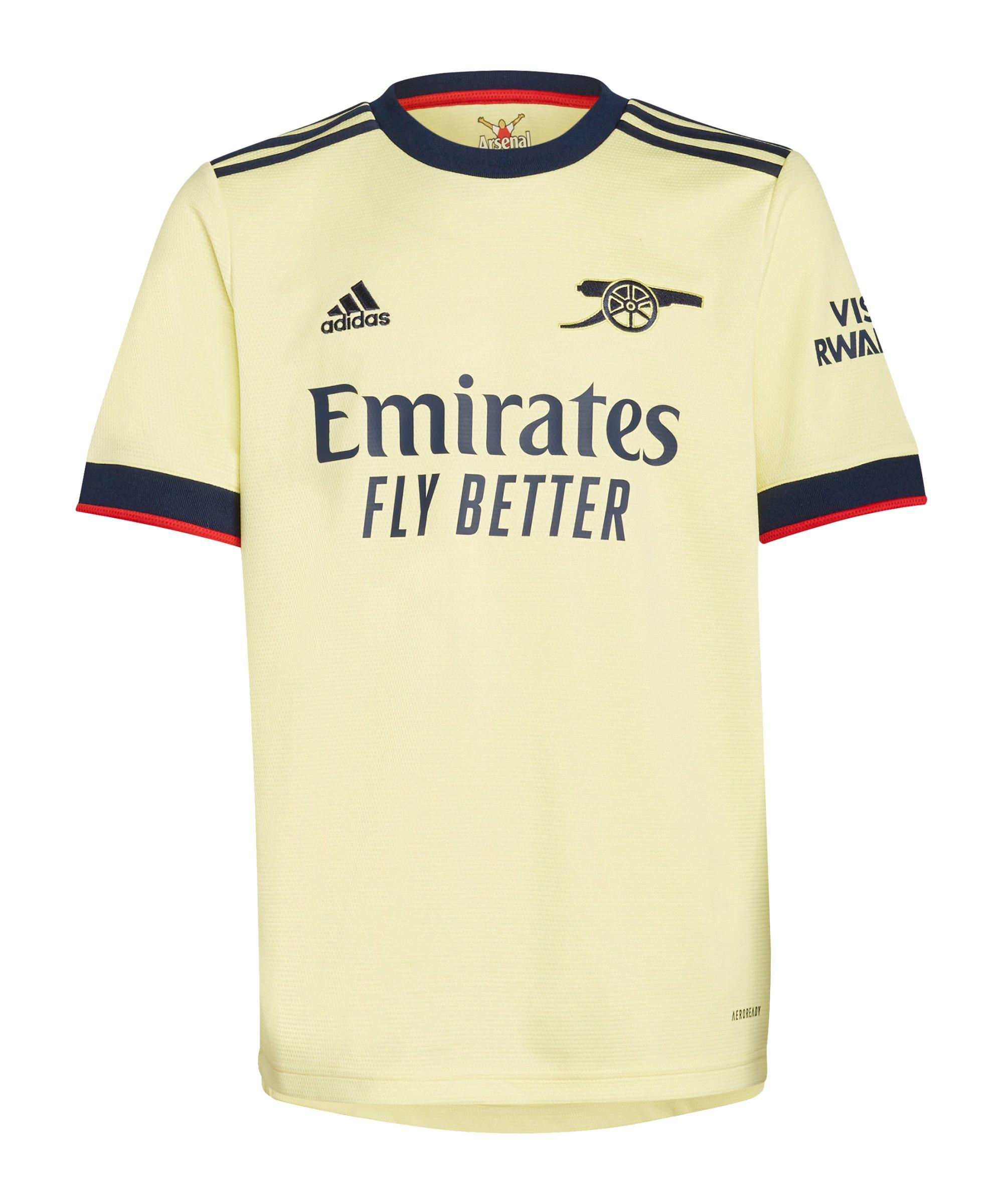 adidas FC Arsenal London Trikot Away 2021/2022 Kids Gelb - gelb