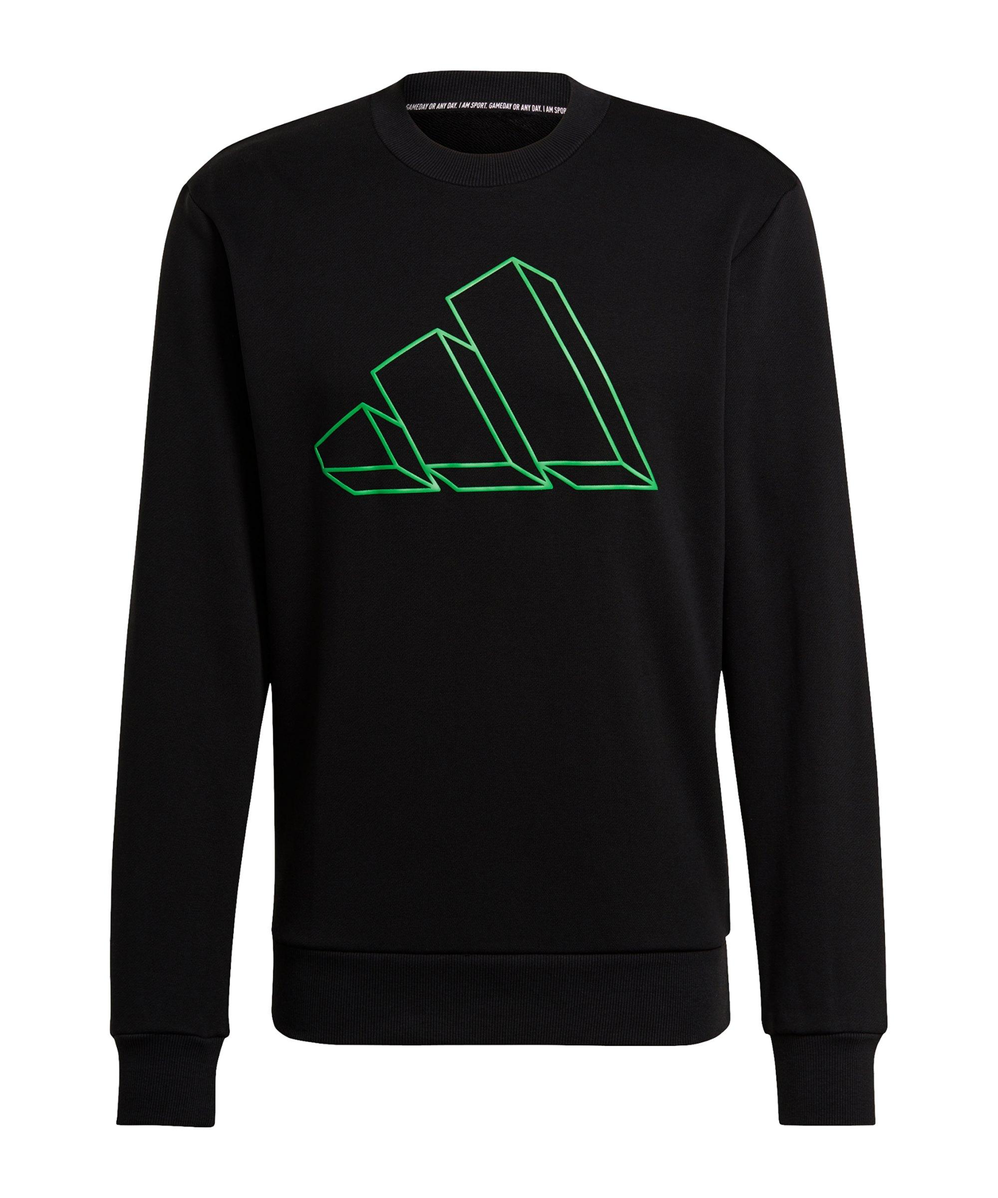adidas GFX Crew Sweatshirt Schwarz - schwarz