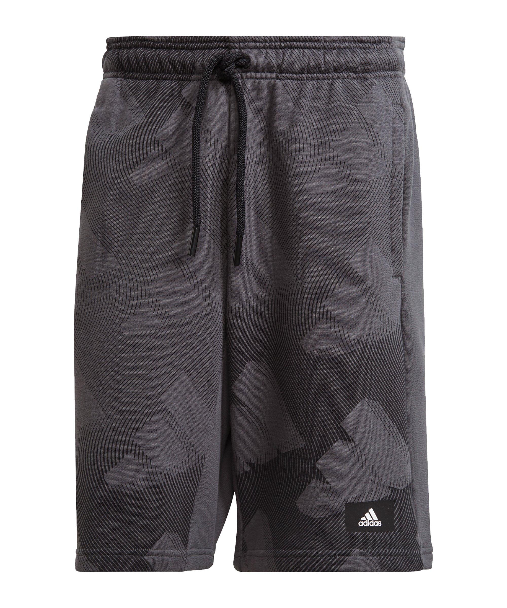 adidas GFX Short Grau Schwarz - grau