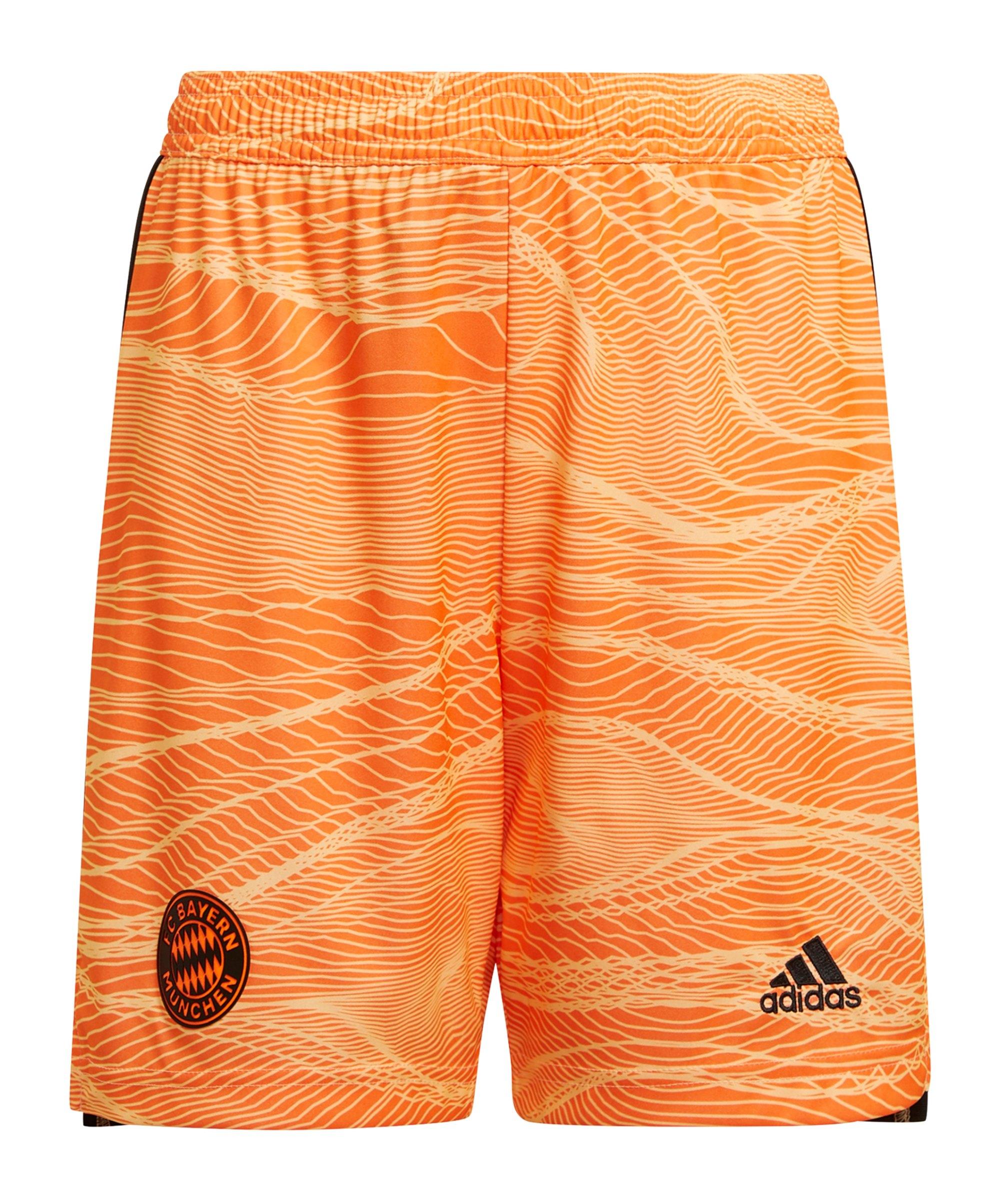 adidas FC Bayern München TW-Short 2021/2022 Kids Orange - orange