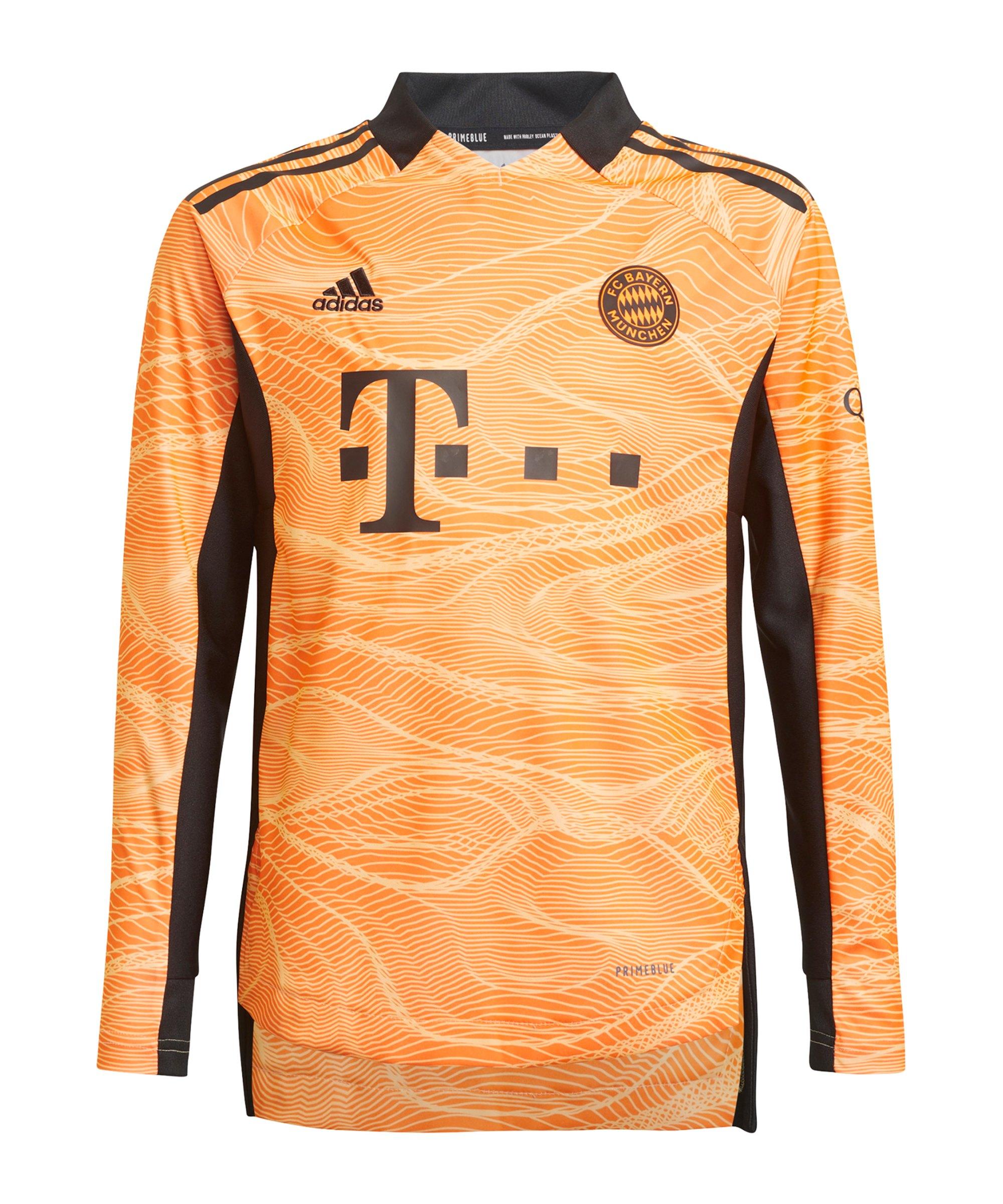 adidas FC Bayern München TW-Trikot 2021/2022 Kids Orange - orange