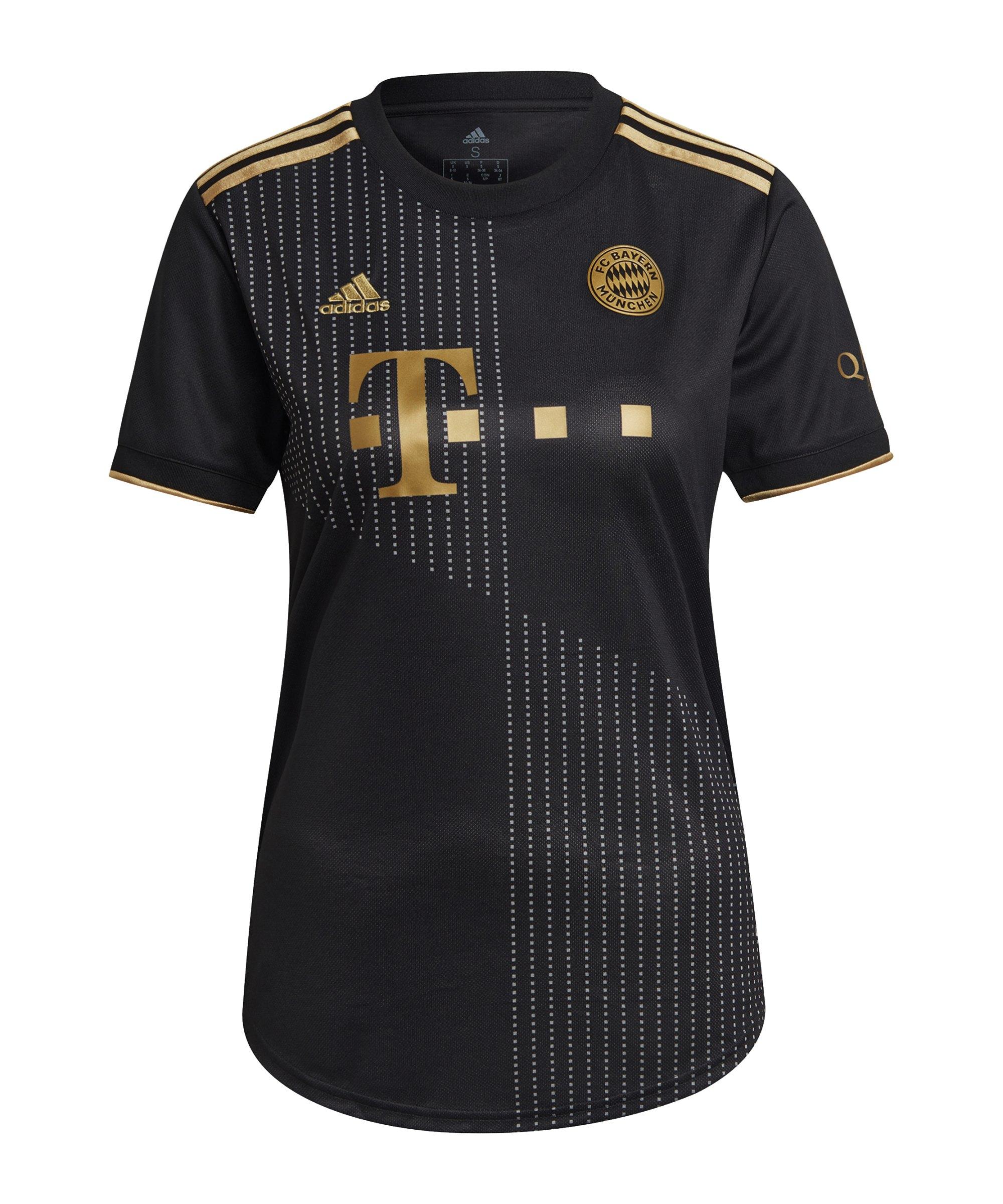 adidas FC Bayern München Trikot Away 2021/2022 Damen Schwarz - schwarz