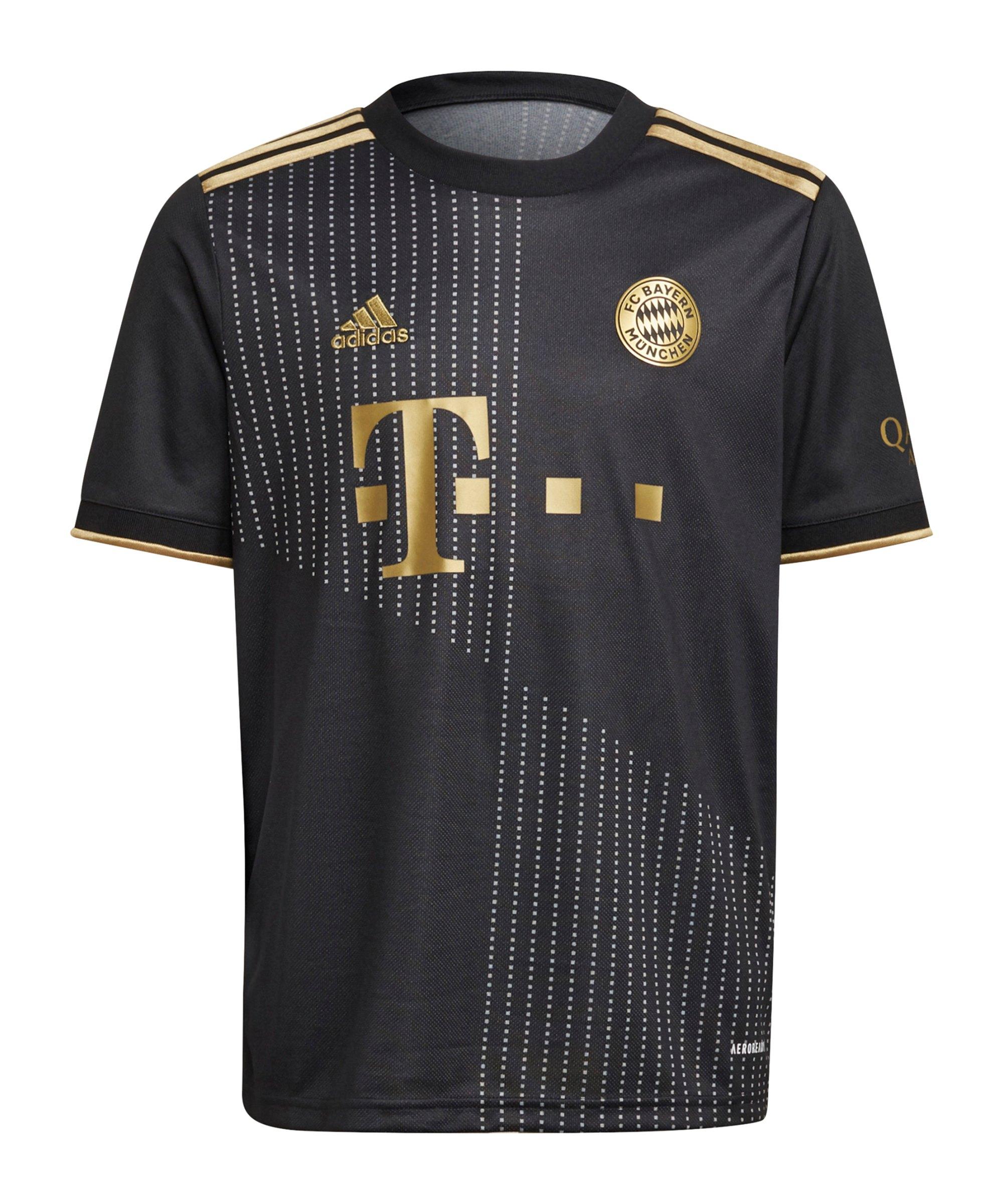 adidas FC Bayern München Trikot Away 2021/2022 Kids Schwarz - schwarz