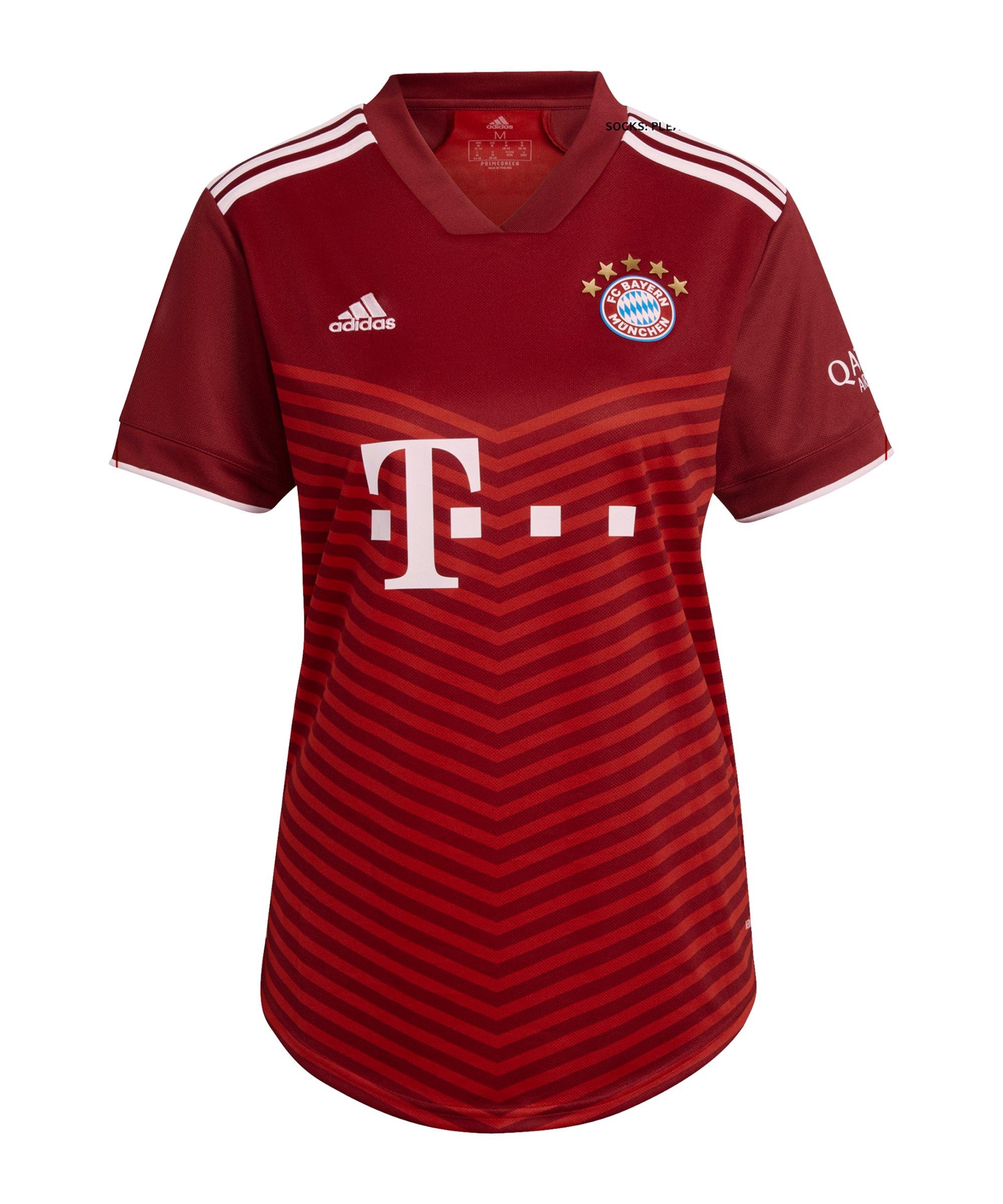 adidas FC Bayern München Trikot Home 2021/2022 Damen Rot - rot
