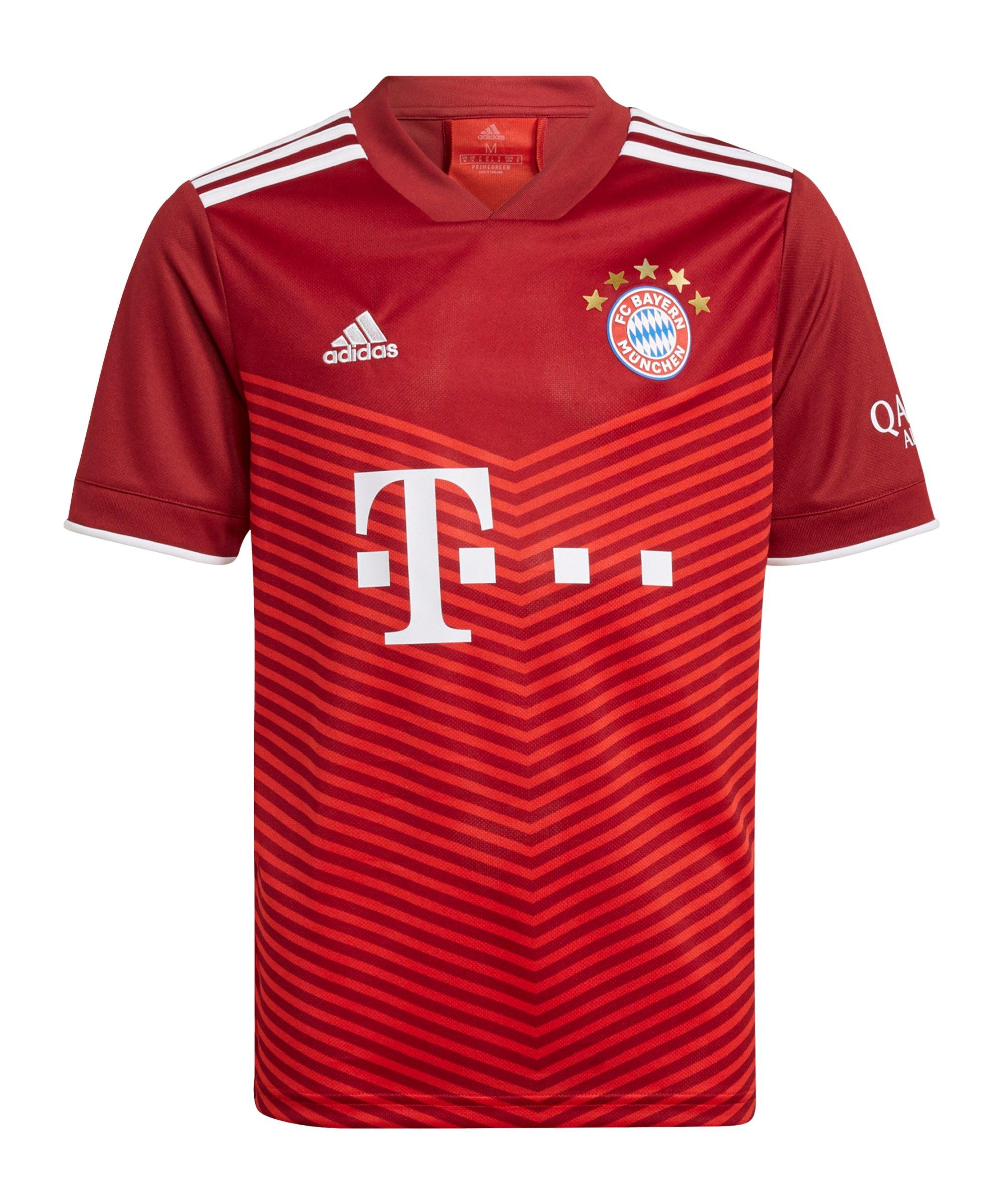 adidas FC Bayern München Trikot Home 2021/2022 Kids Rot - rot