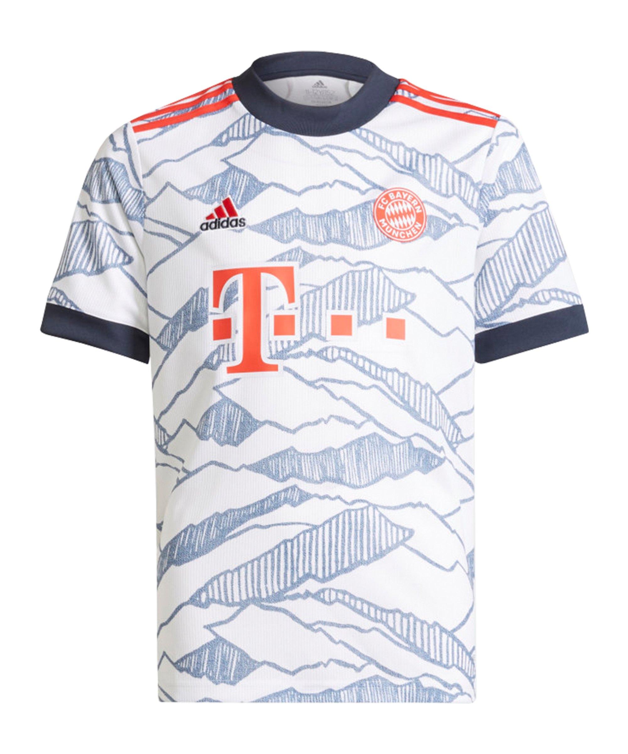 adidas FC Bayern München Trikot UCL 2021/2022 Kids Weiss - weiss