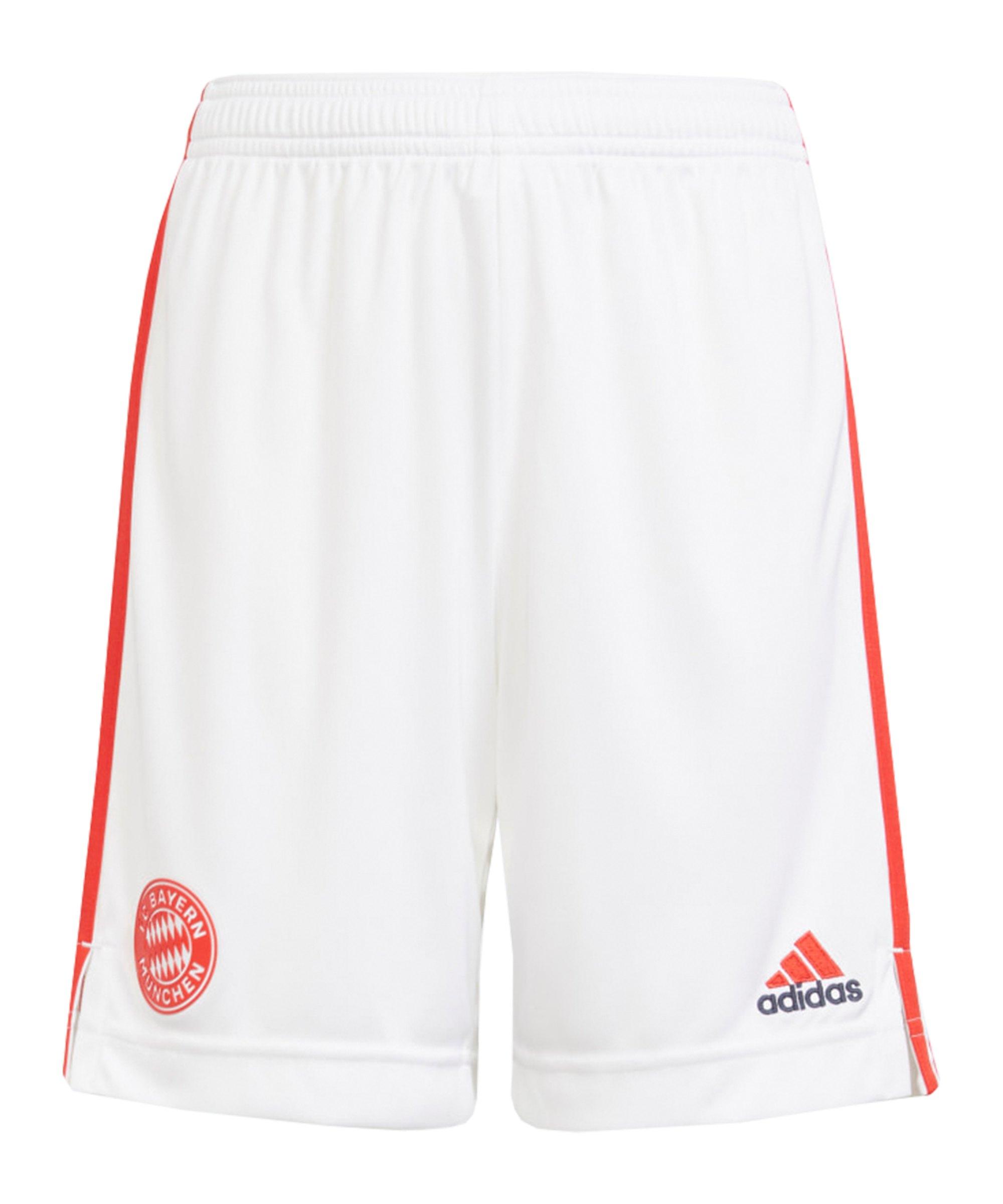 adidas FC Bayern München Short UCL 2021/2022 Kids Weiss - weiss