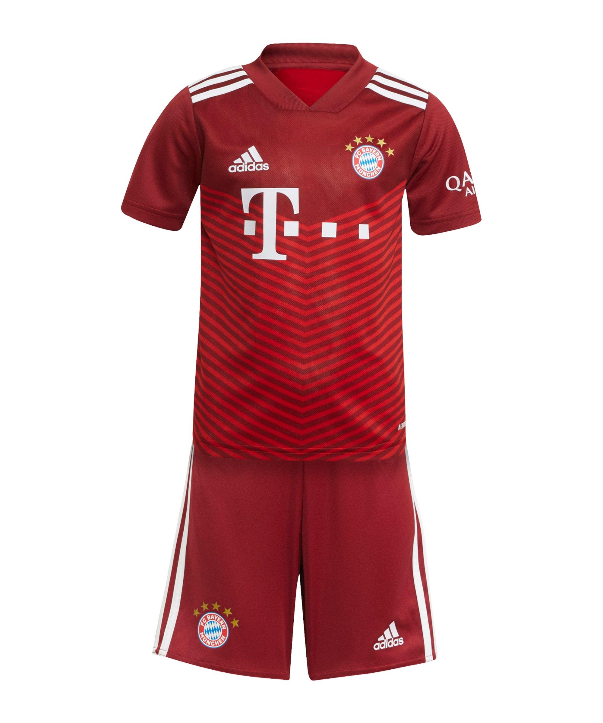adidas FC Bayern München Minikit Home 2021/2022 Rot - rot