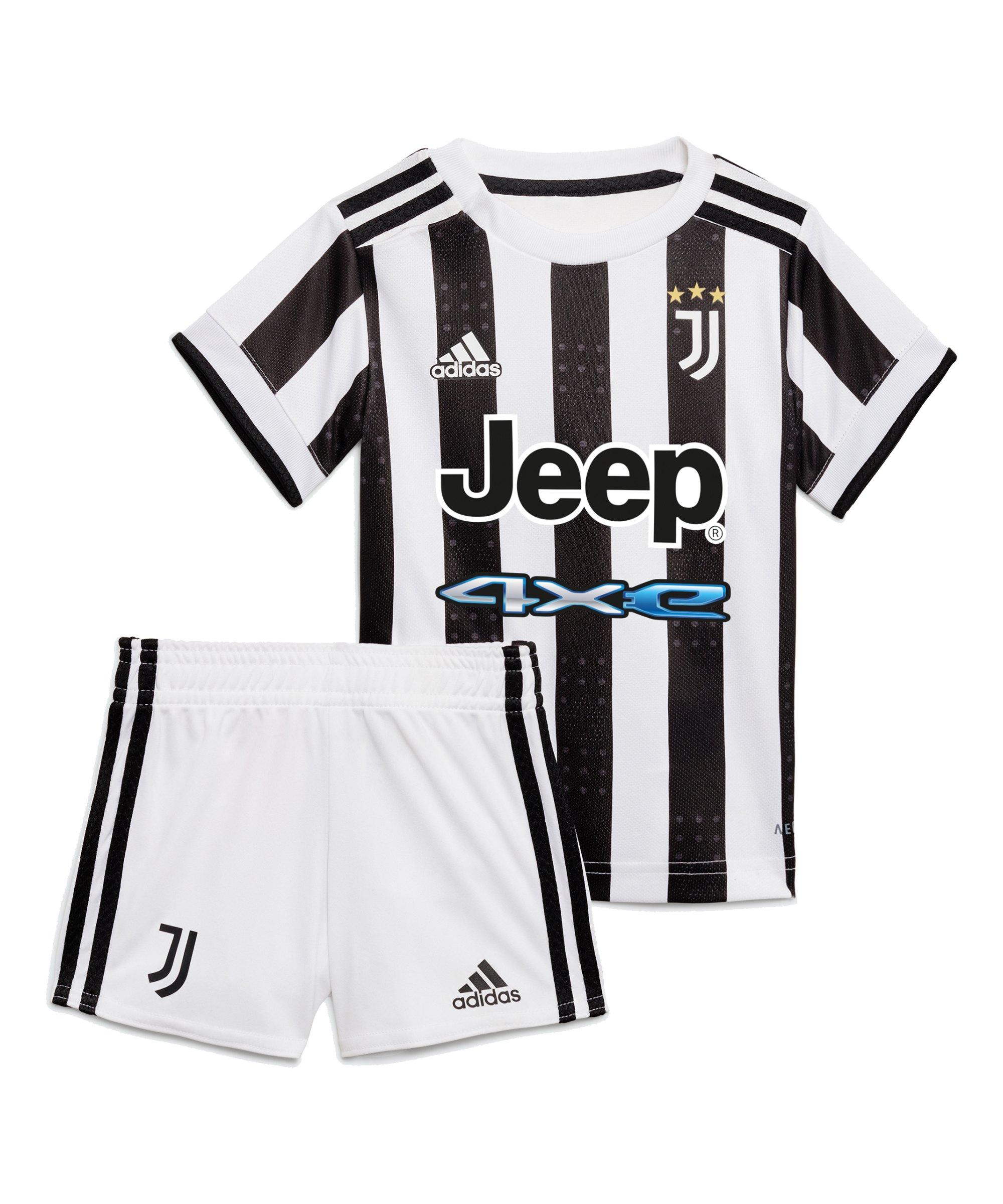 adidas Juventus Turin Babykit Home 2021/2022 Weiss Schwarz - weiss