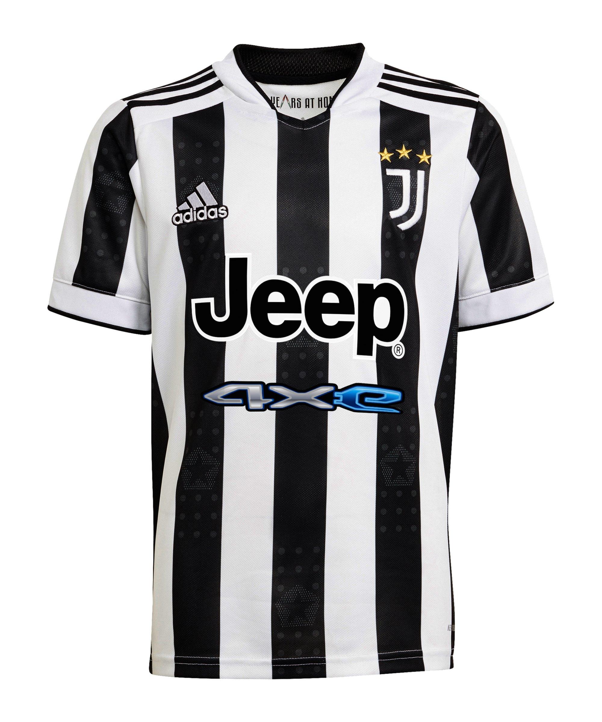 adidas Juventus Turin Trikot Home 2021/2022 Kids Weiss - weiss