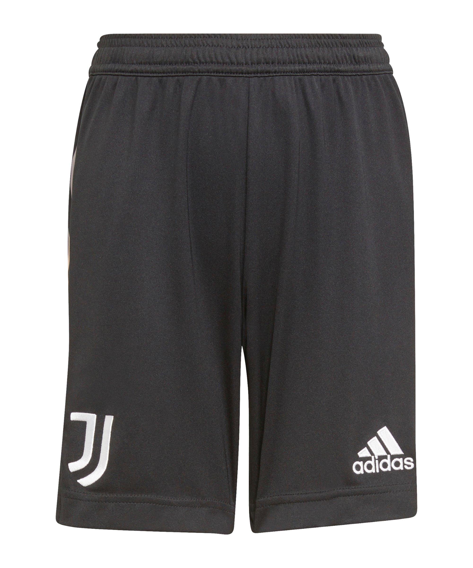 adidas Juventus Turin Short Away 2021/2022 Kids Schwarz - schwarz