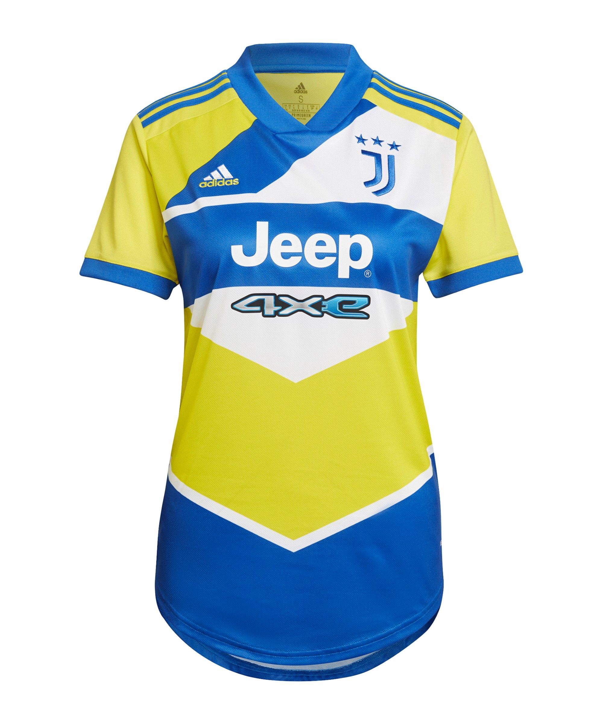 adidas Juventus Turin Trikot UCL 2021/2022 Damen Gelb Blau - gelb