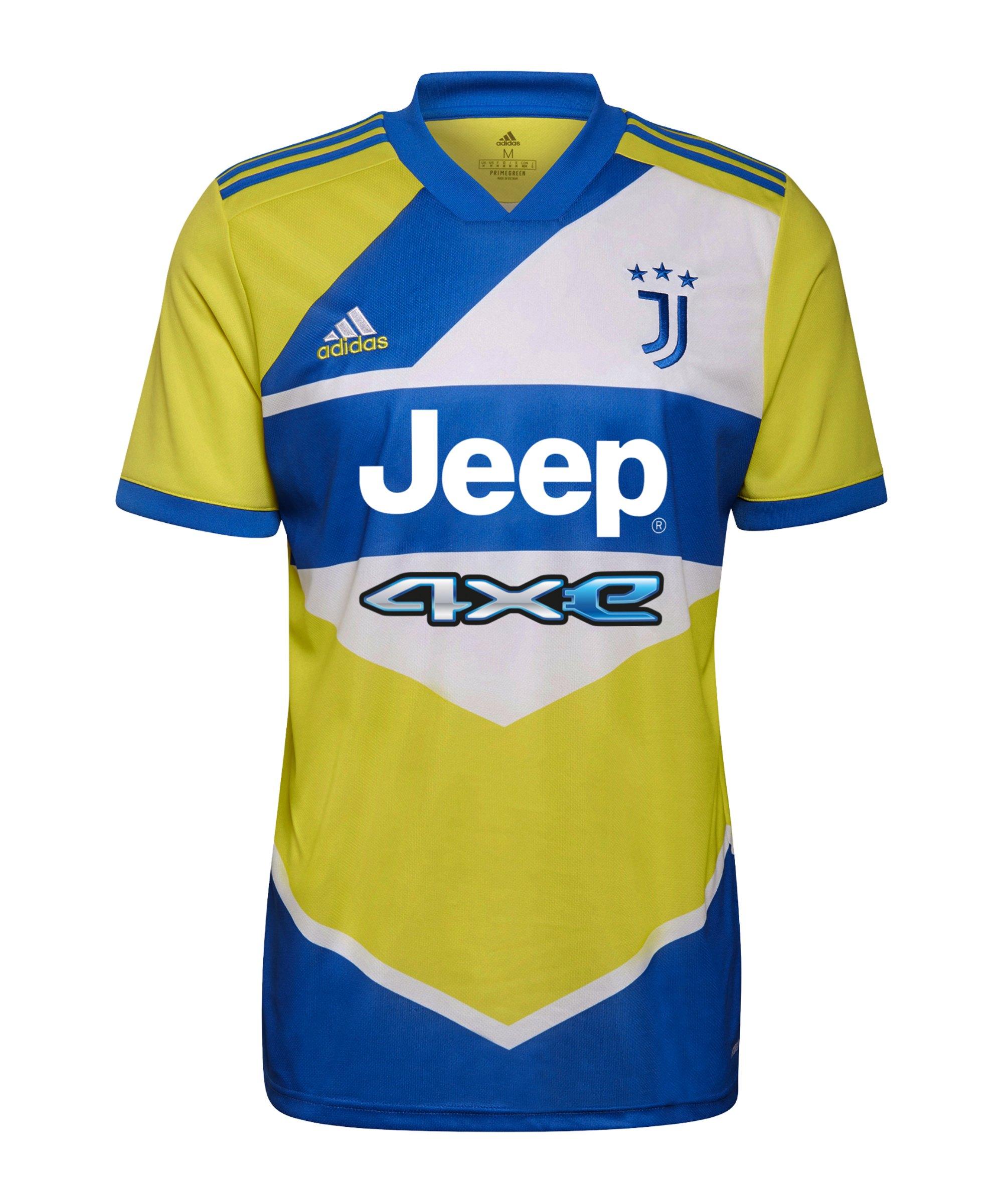 adidas Juventus Turin Trikot UCL 2021/2022 Kids Gelb Blau - gelb