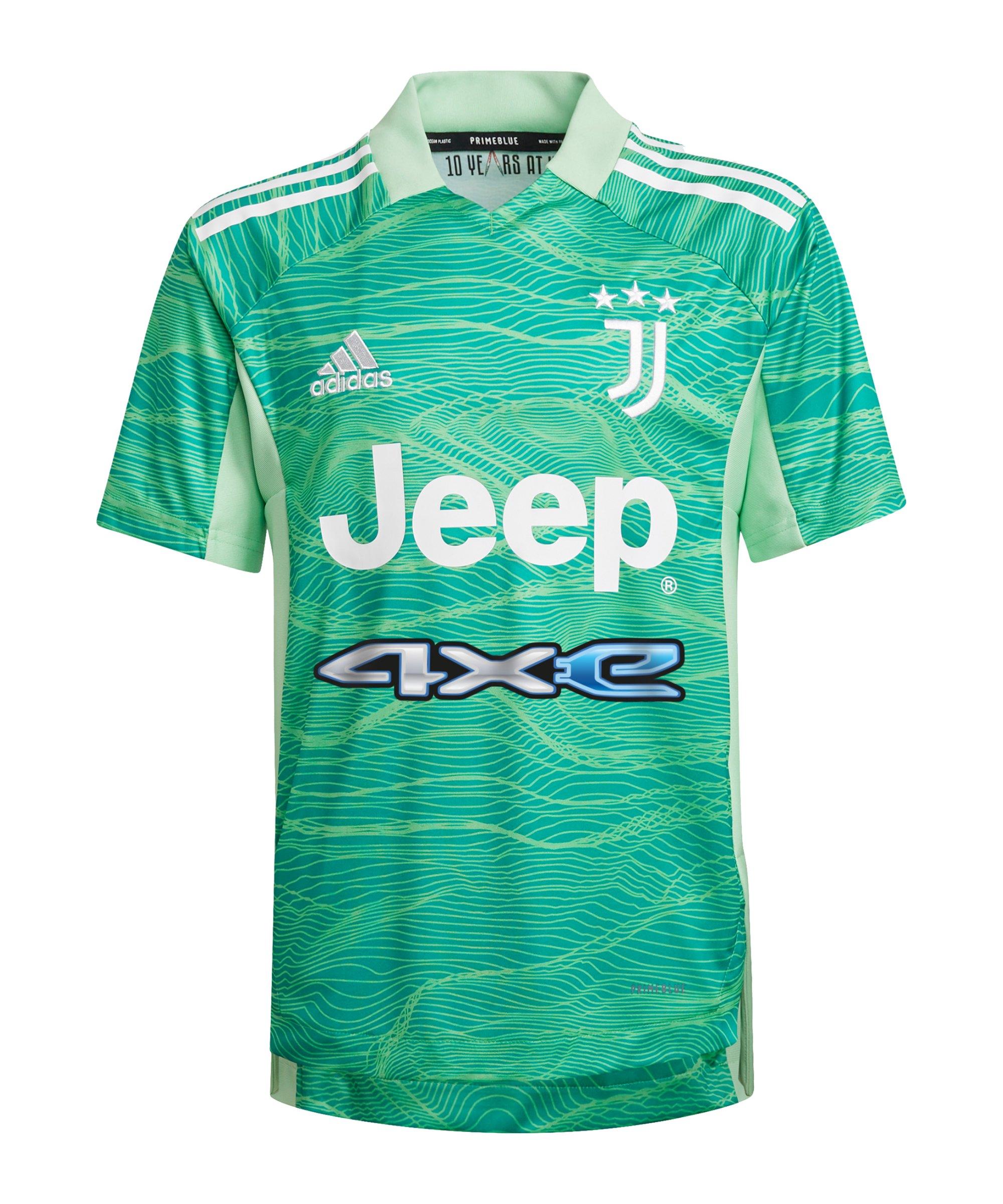 adidas Juventus Turin TW-Trikot 2021/2022 Kids Grün - gruen