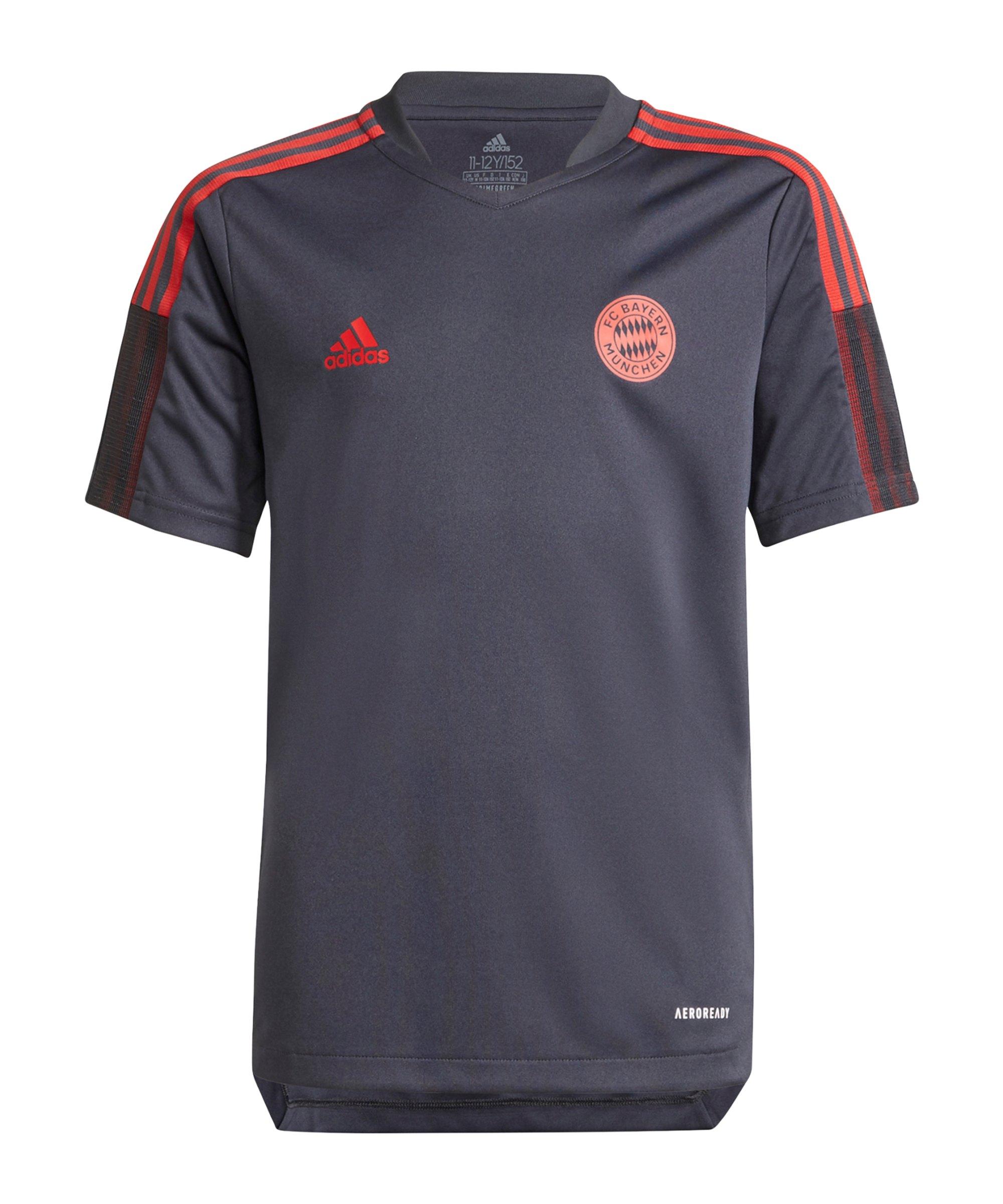 adidas FC Bayern München Trainingsshirt Kids Grau - grau