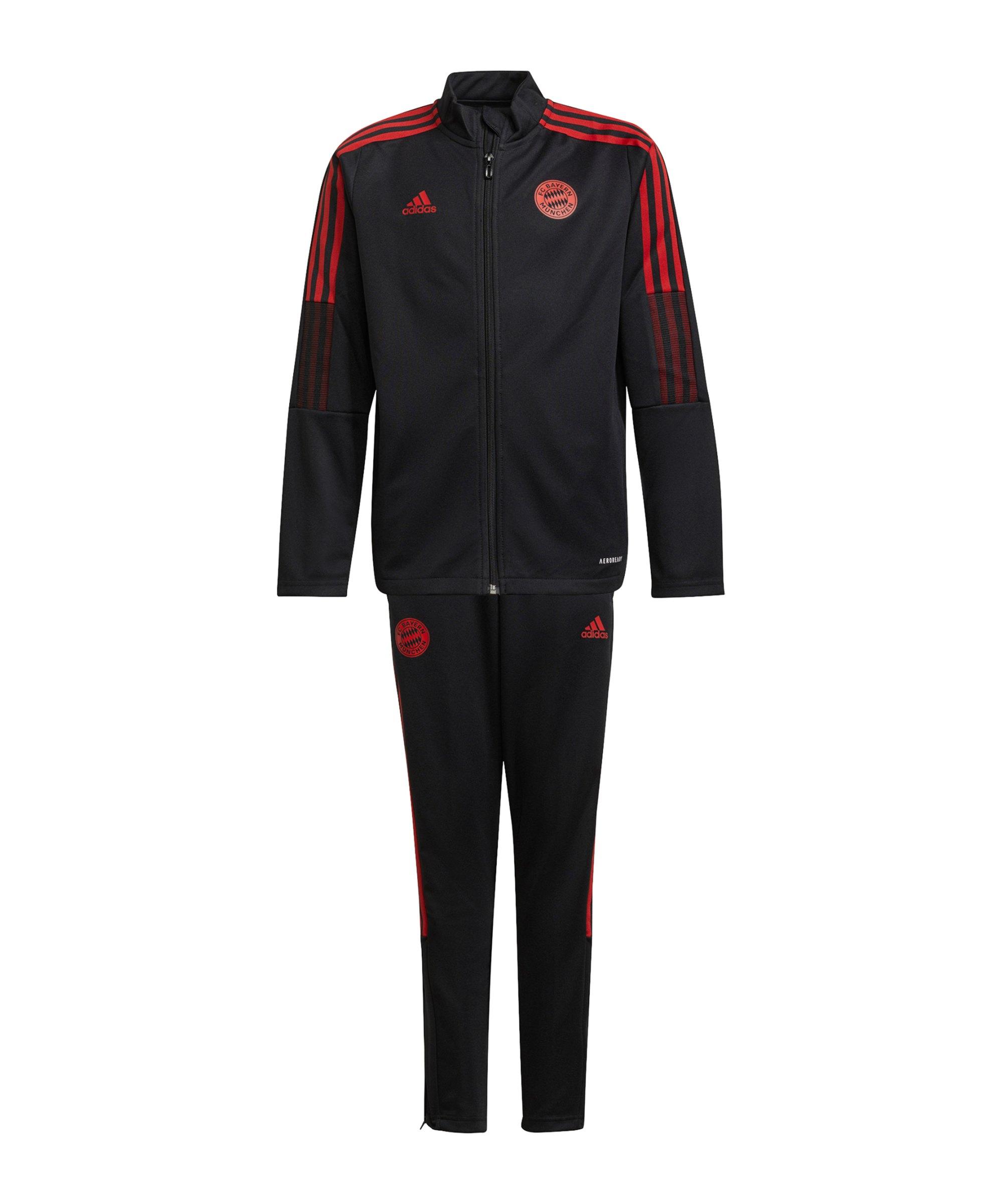 adidas FC Bayern München Trainingsanzug Kids Schwarz - schwarz