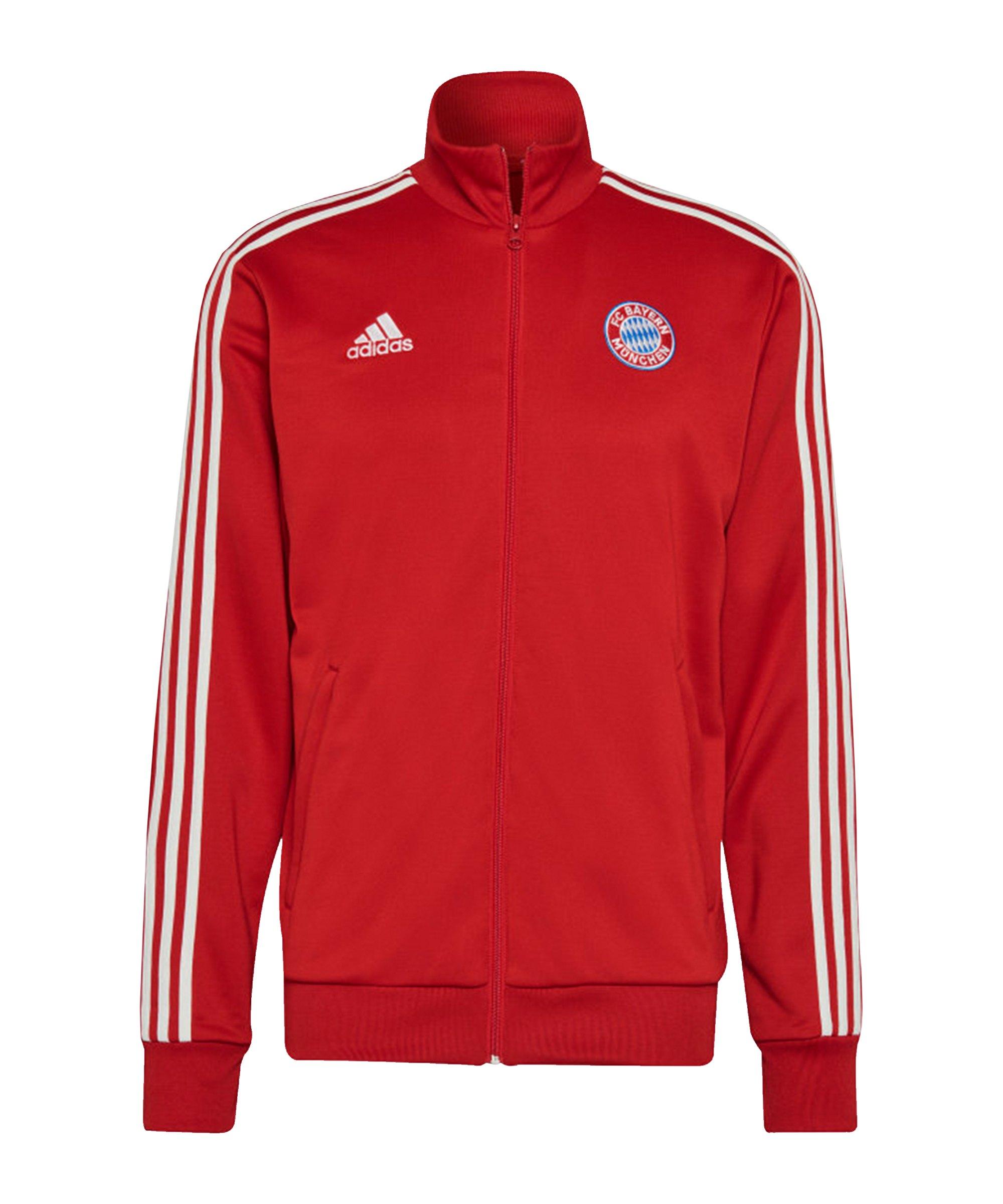 adidas FC Bayern München 3 Stripes Track Top Rot - rot
