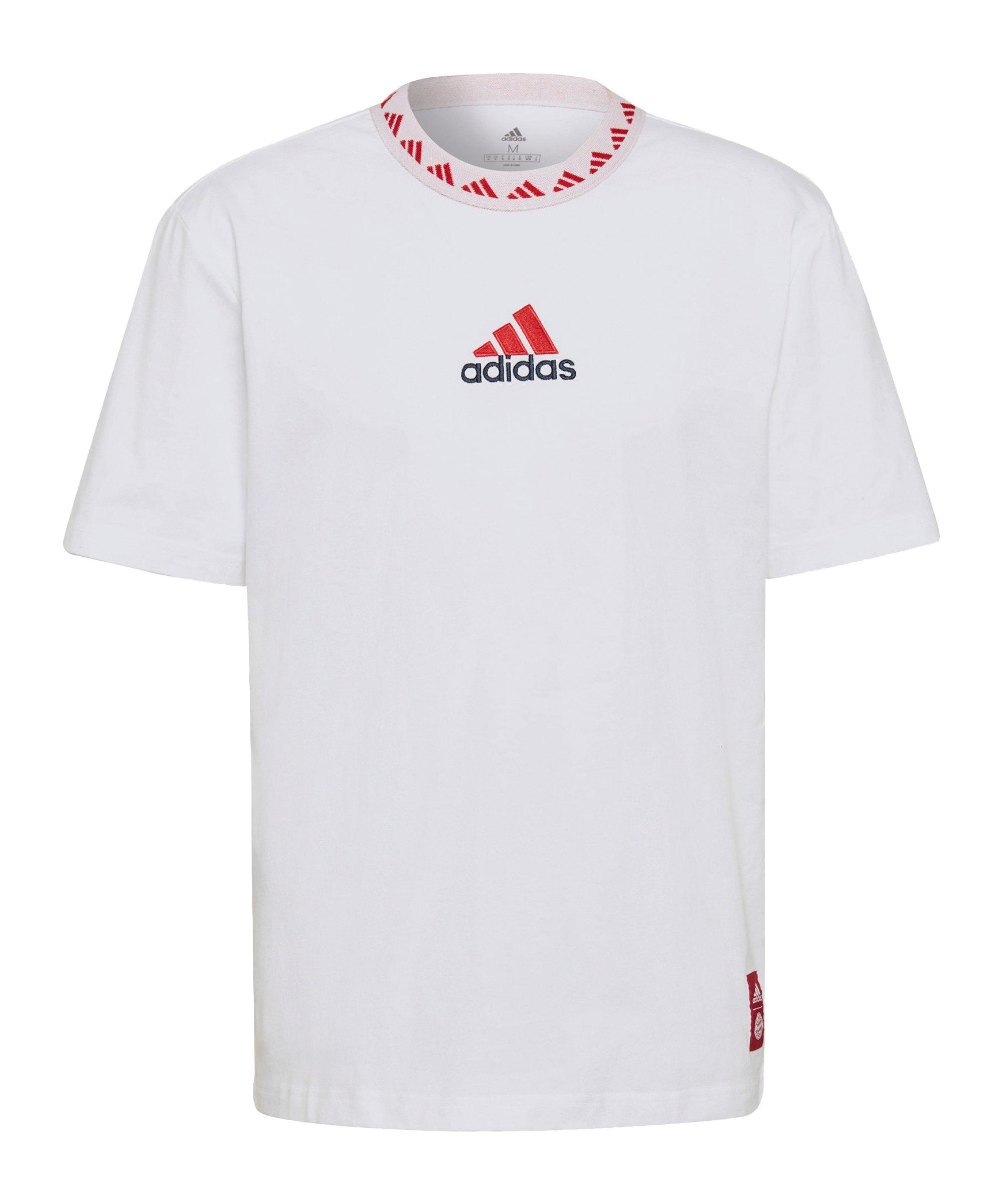 adidas FC Bayern München Icon T-Shirt Weiss - weiss