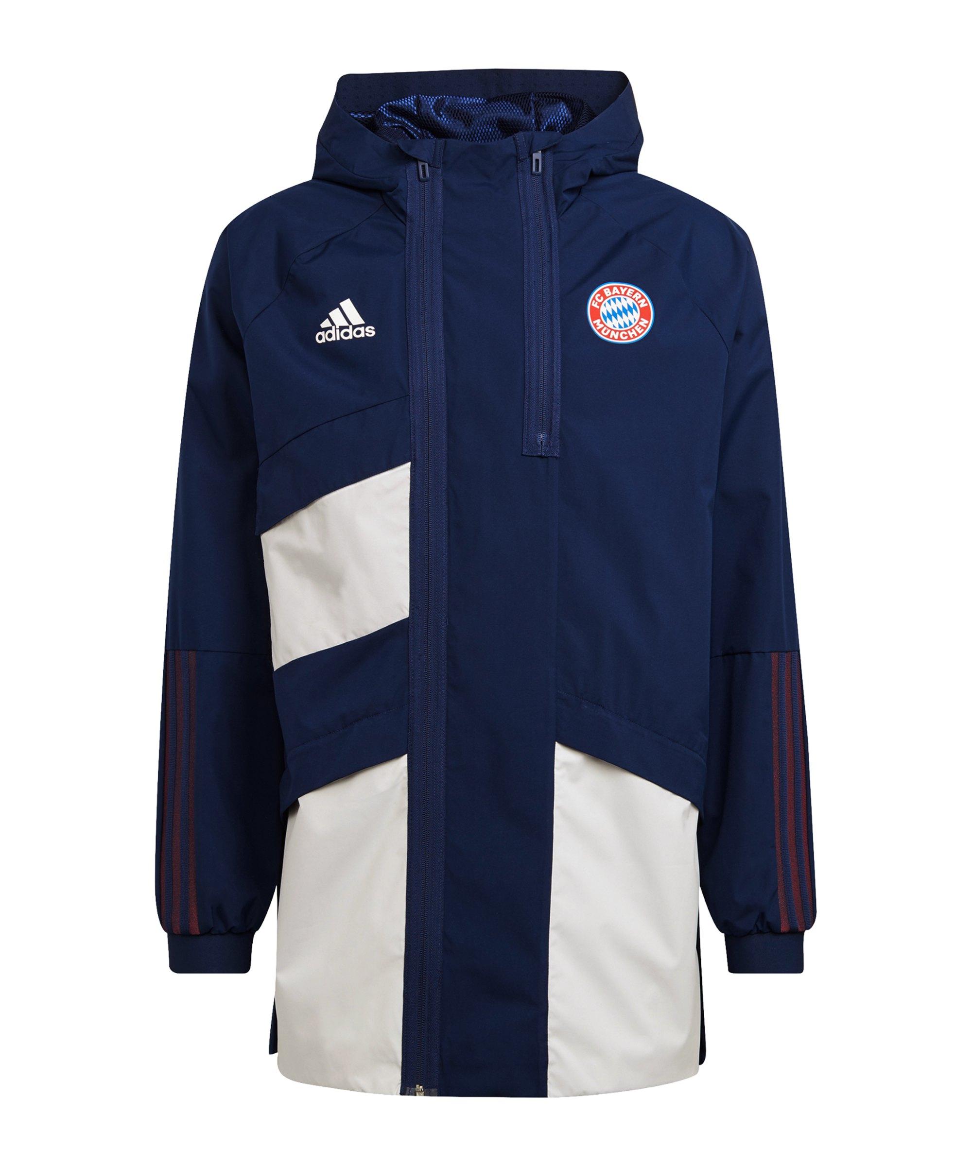 adidas FC Bayern München Parka Blau - blau