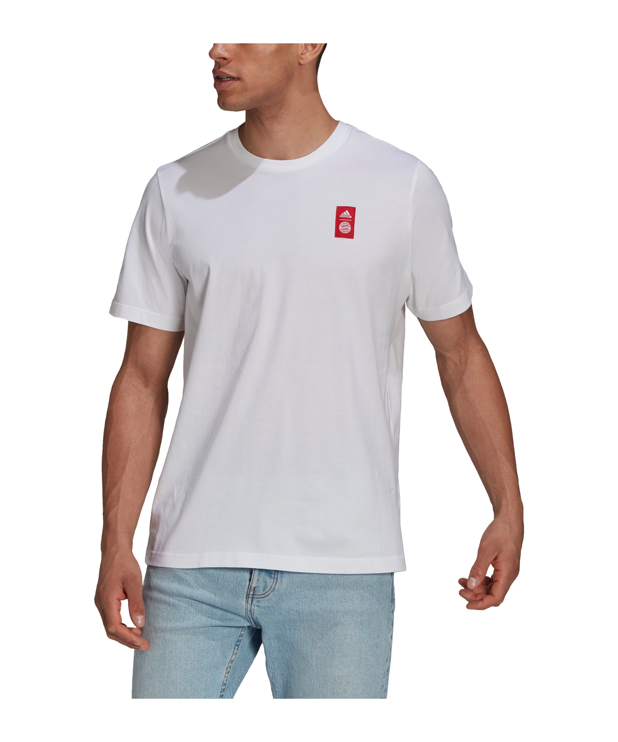 adidas FC Bayern München Street T-Shirt Weiss - weiss