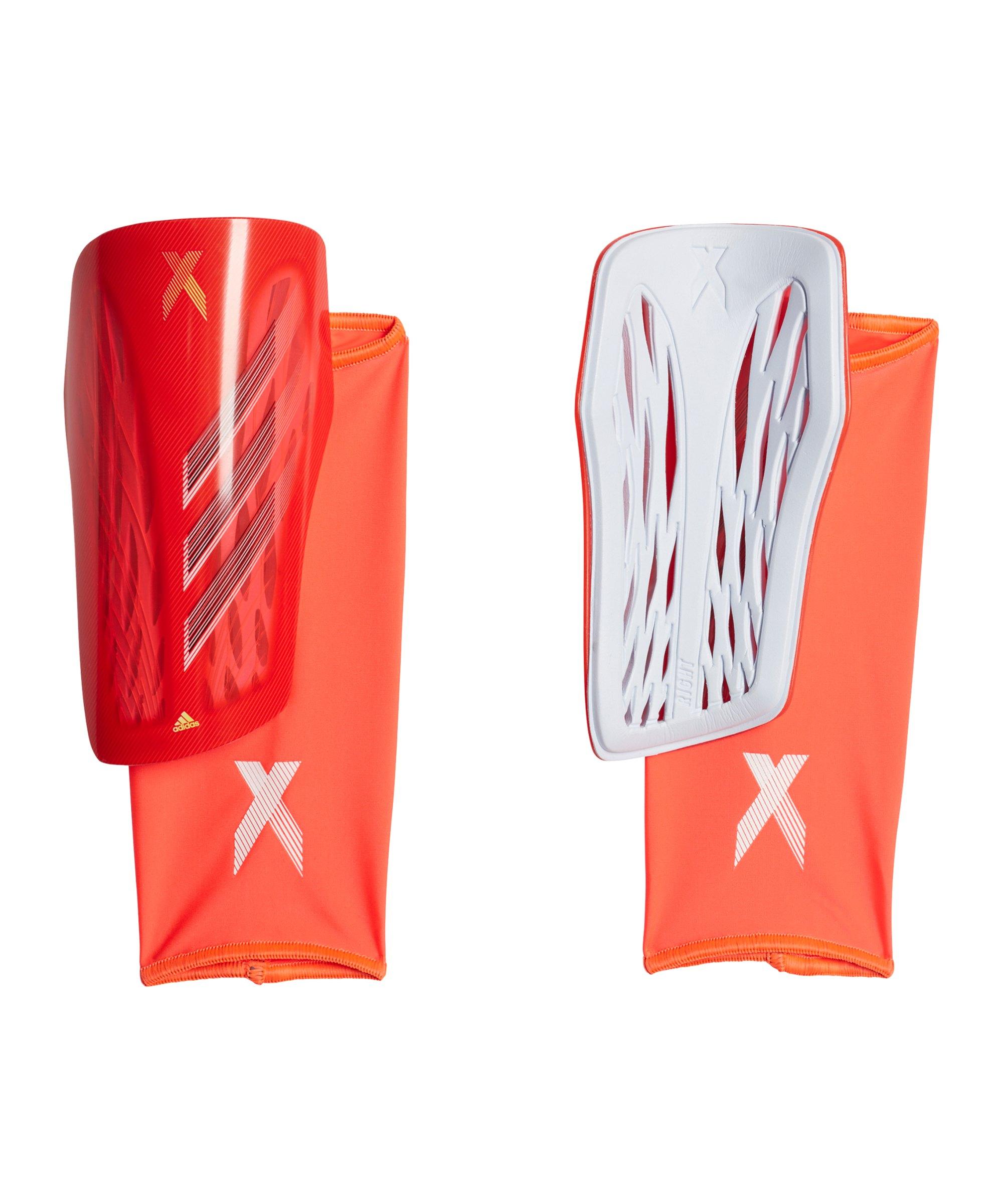 adidas X LGE Meteorite Schienbeinschoner Rot Gelb - rot