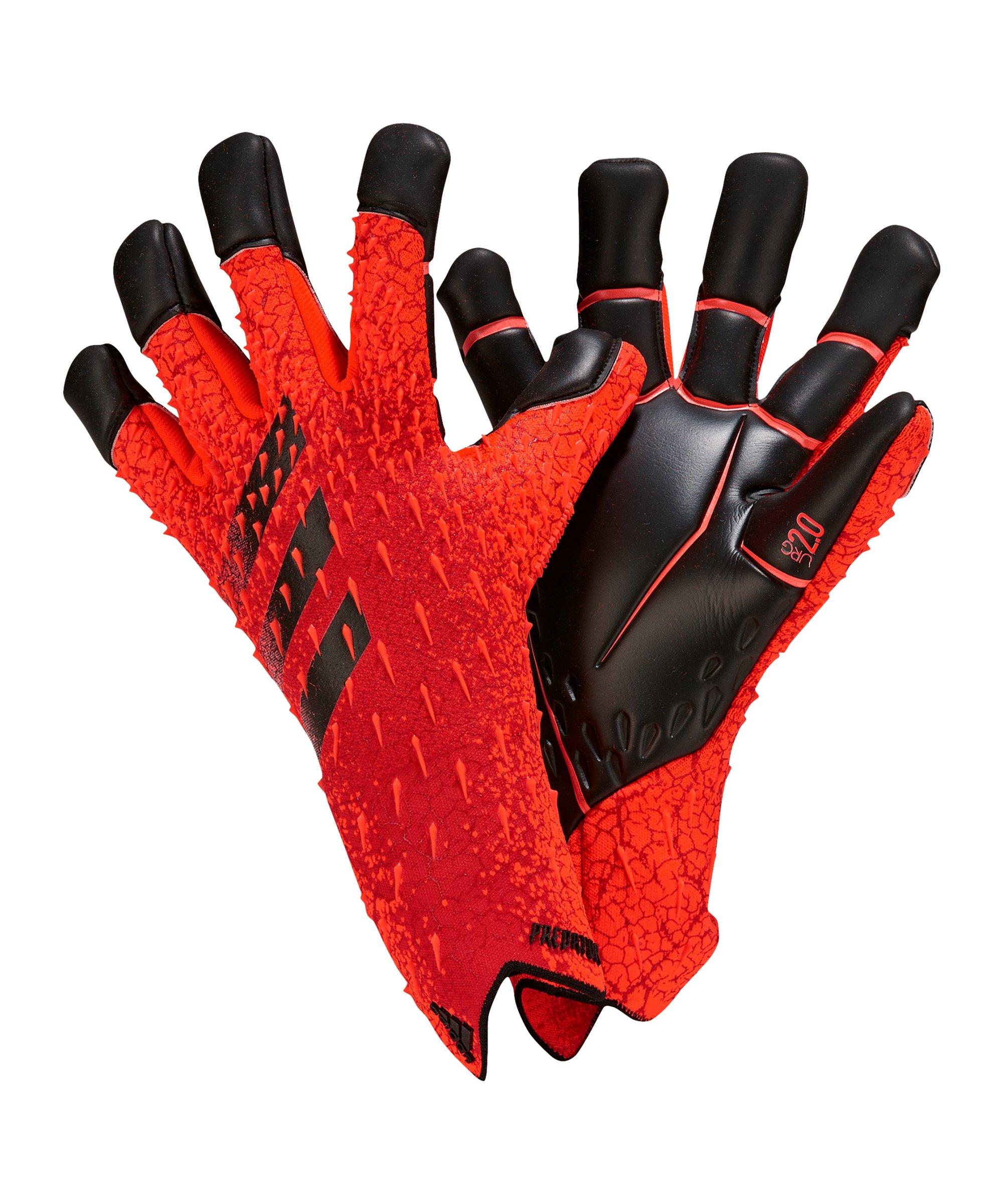 adidas Predator Pro HYB Meteorite Torwarthandschuh Rot - rot