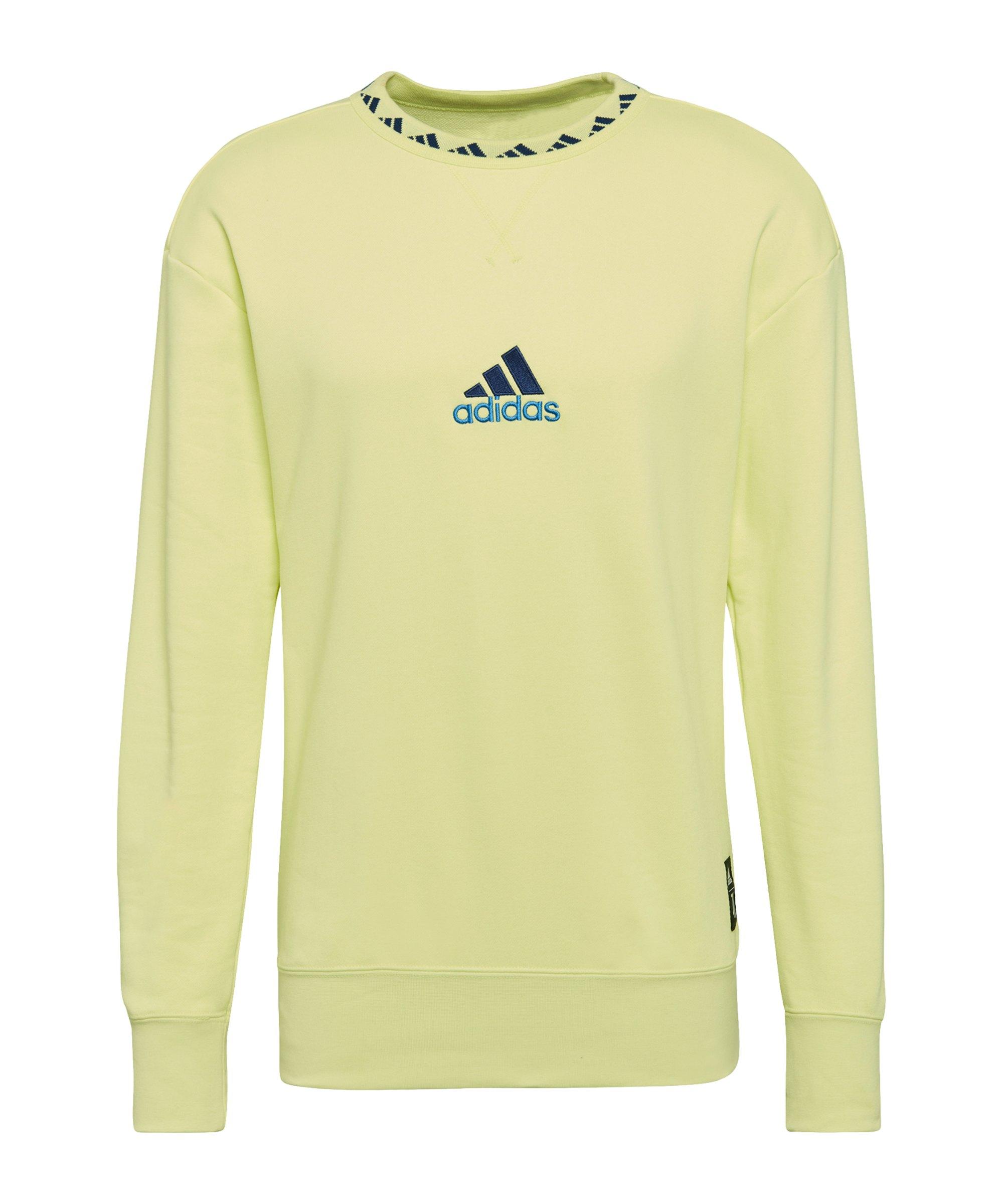 adidas Juventus Turin Icon Sweatshirt Gelb - gelb