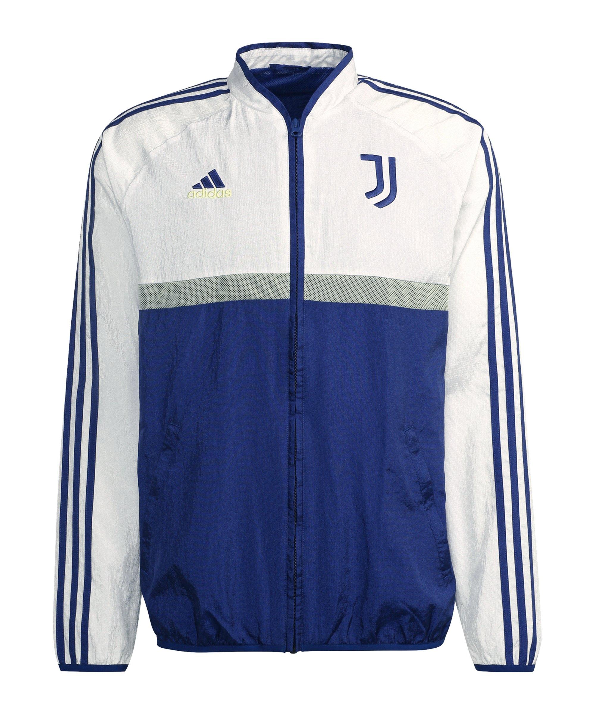 adidas Juventus Turin Icon Woven Jacke Blau Weiss - weiss