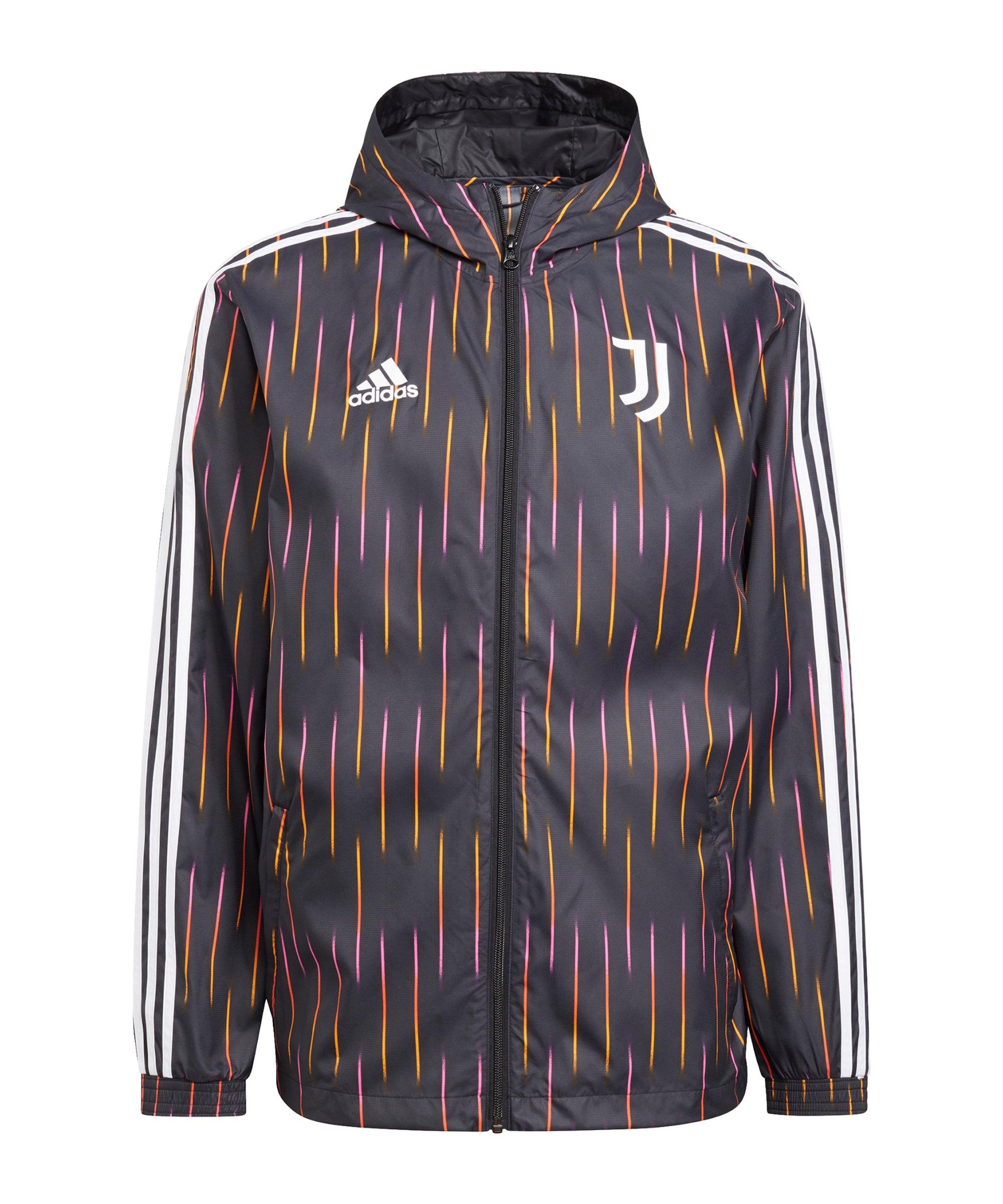 adidas Juventus Turin Windbreaker Schwarz - schwarz