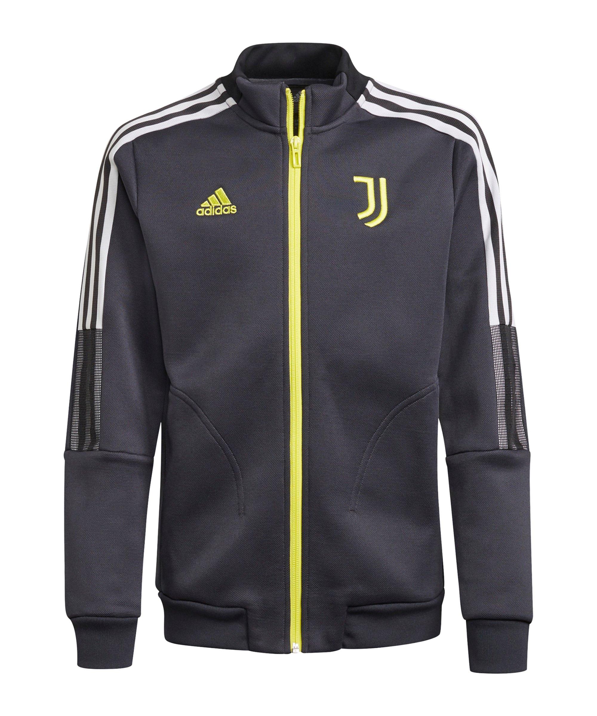 adidas Juventus Turin Präsentationsjacke Kids Grau - grau