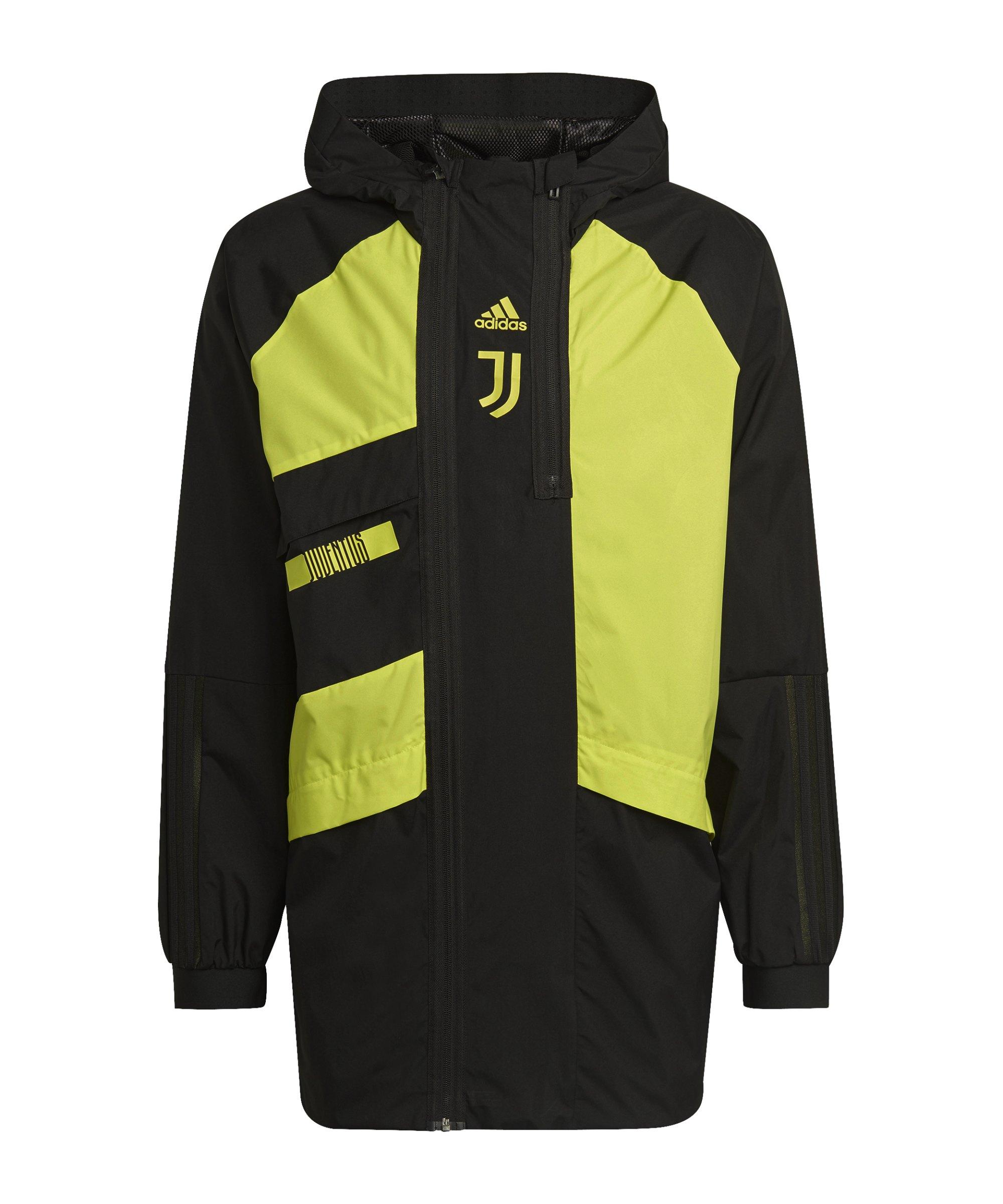 adidas Juventus Turin Parka Schwarz - schwarz