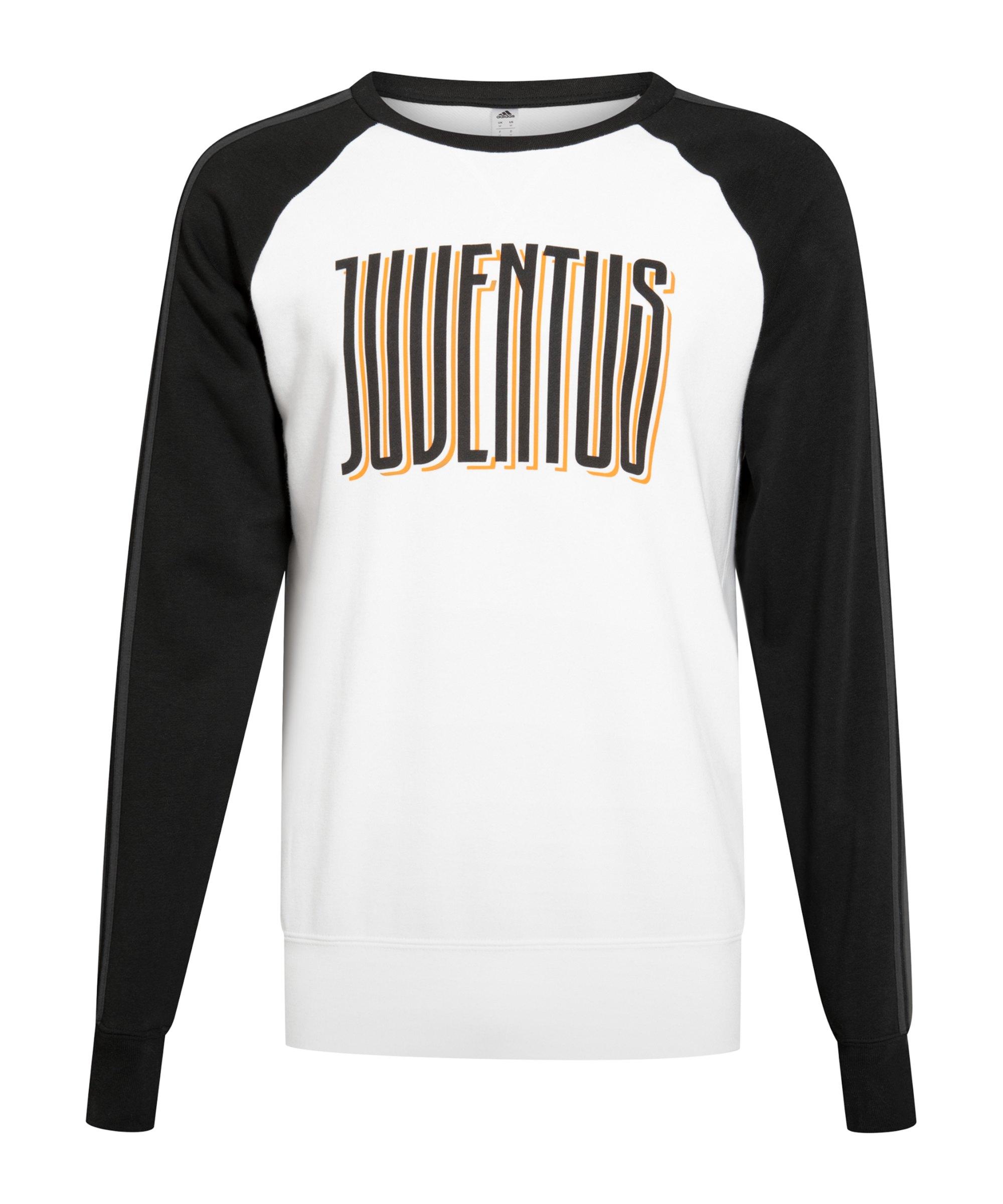 adidas Juventus Turin Crew Sweatshirt Schwarz - weiss
