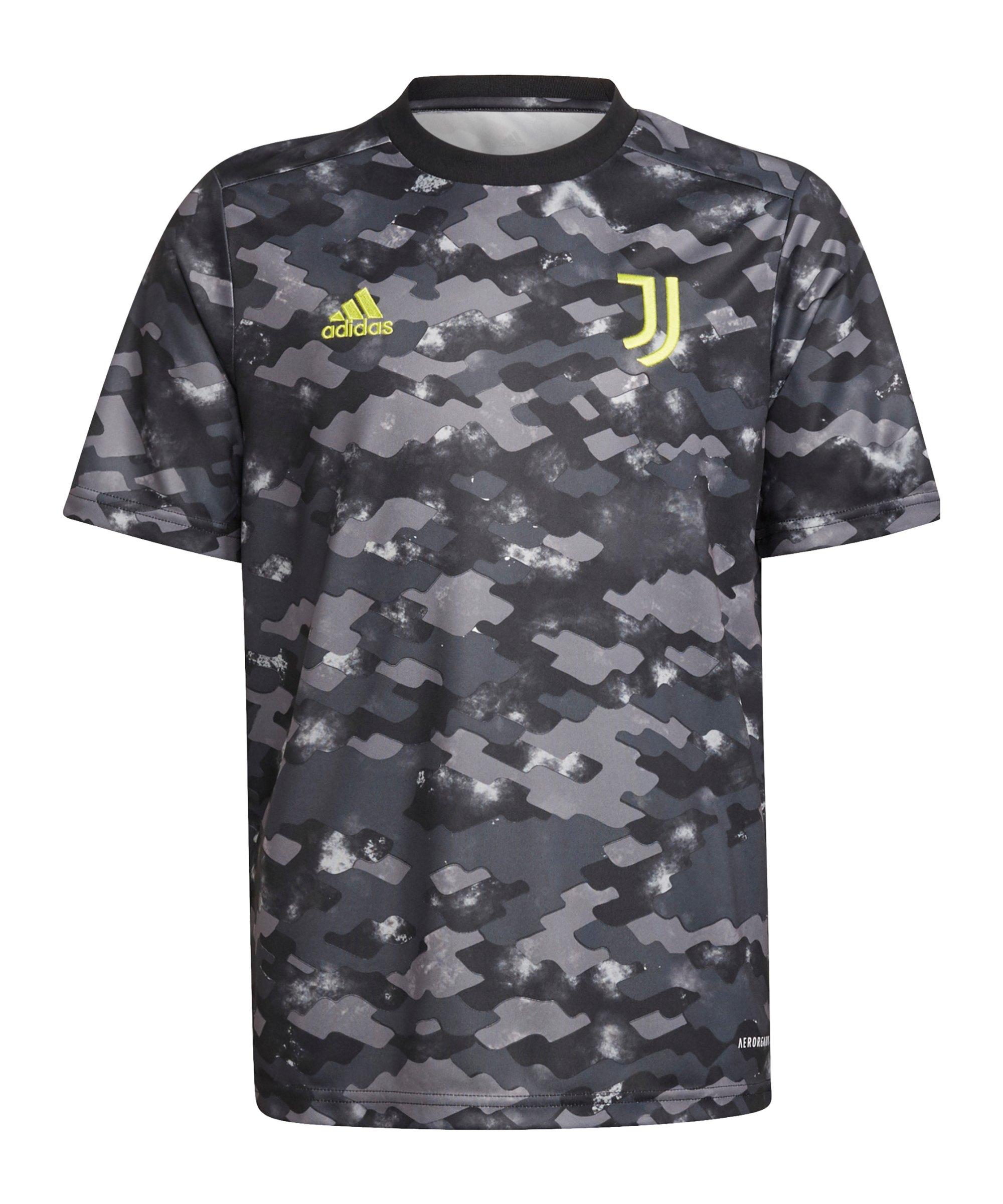 adidas Juventus Turin Prematch Shirt 2021/2022 Kids Grau - grau