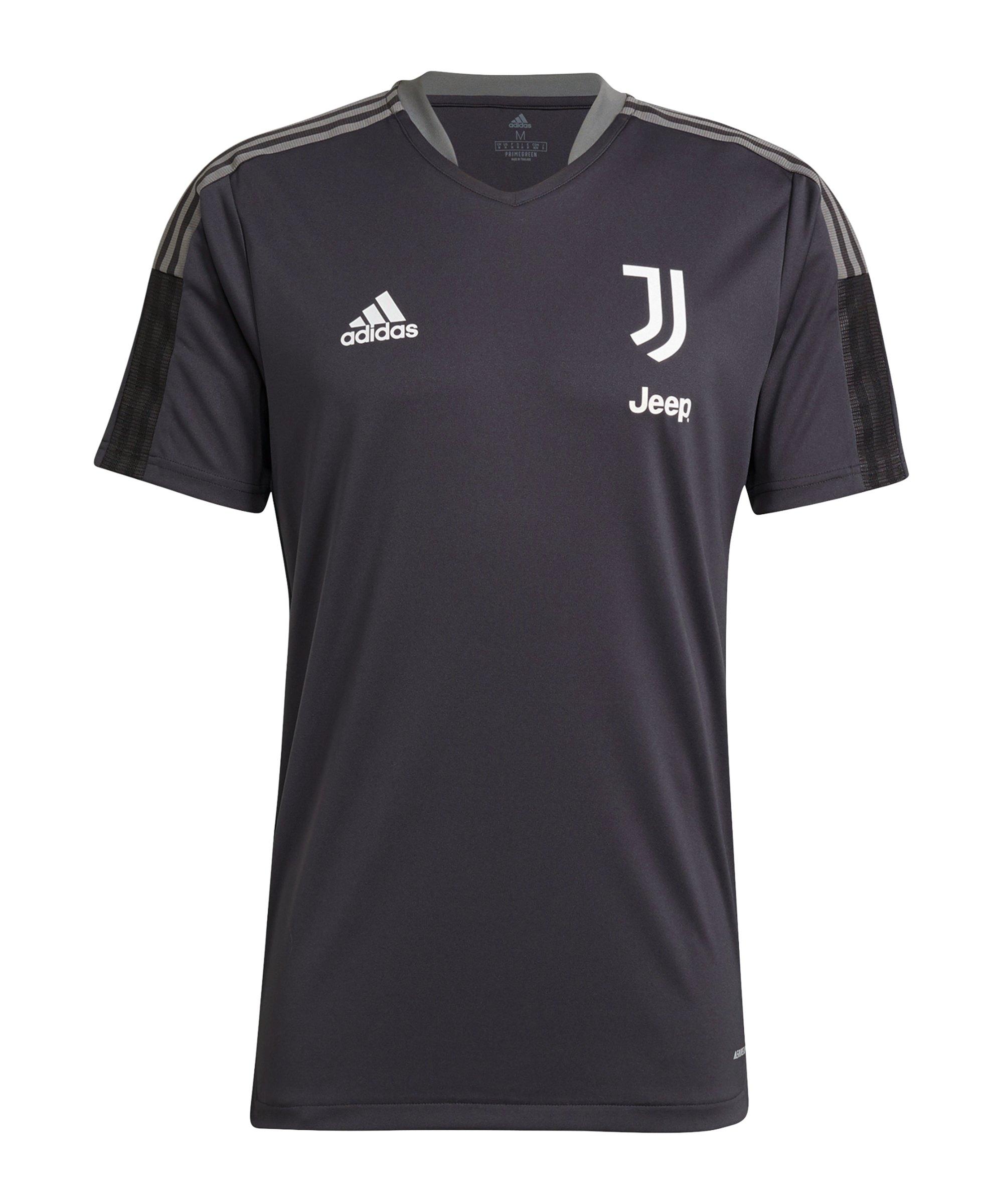 adidas Juventus Turin Trainingsshirt Grau - grau