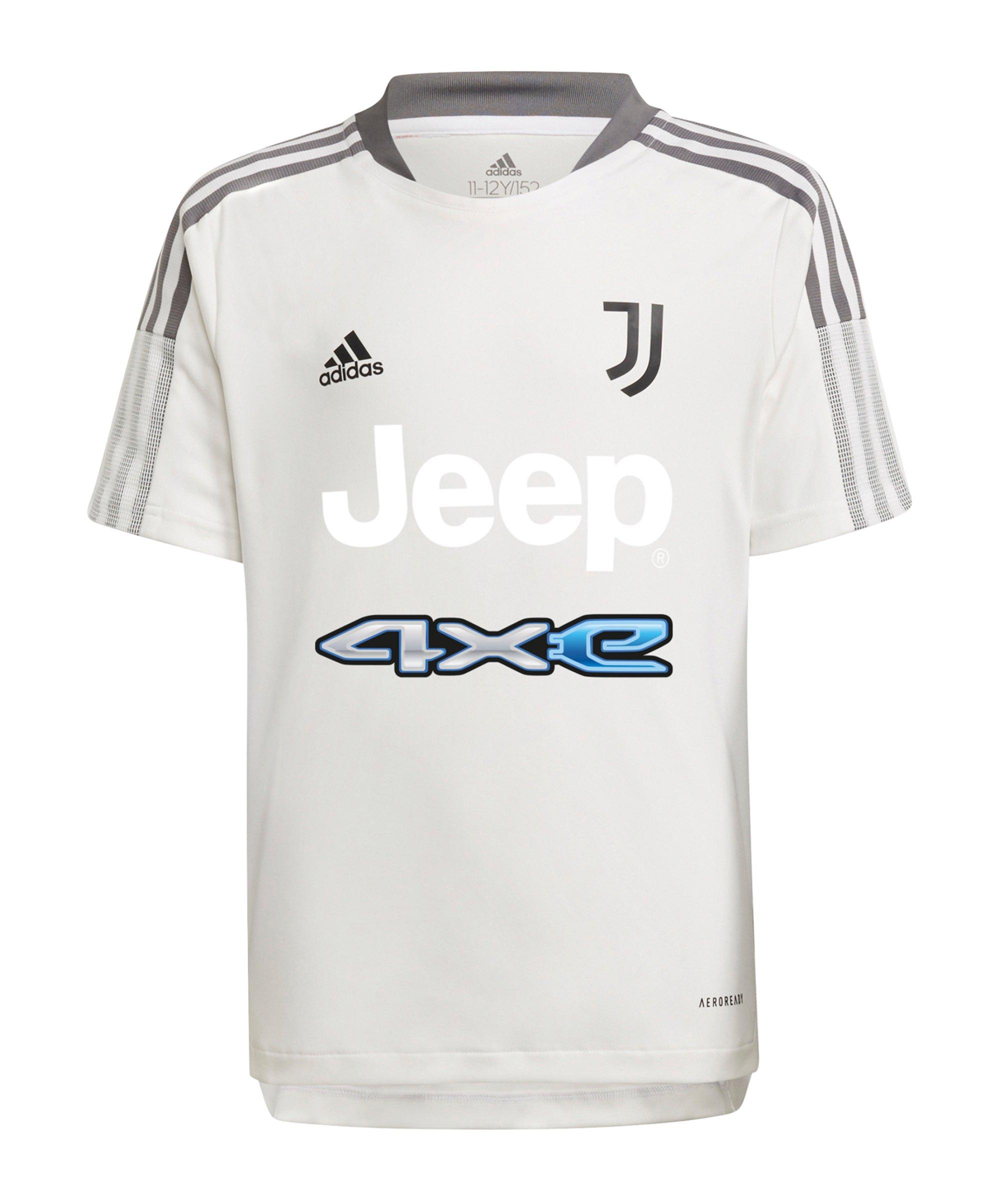 adidas Juventus Turin Trainingsshirt Kids Weiss - weiss