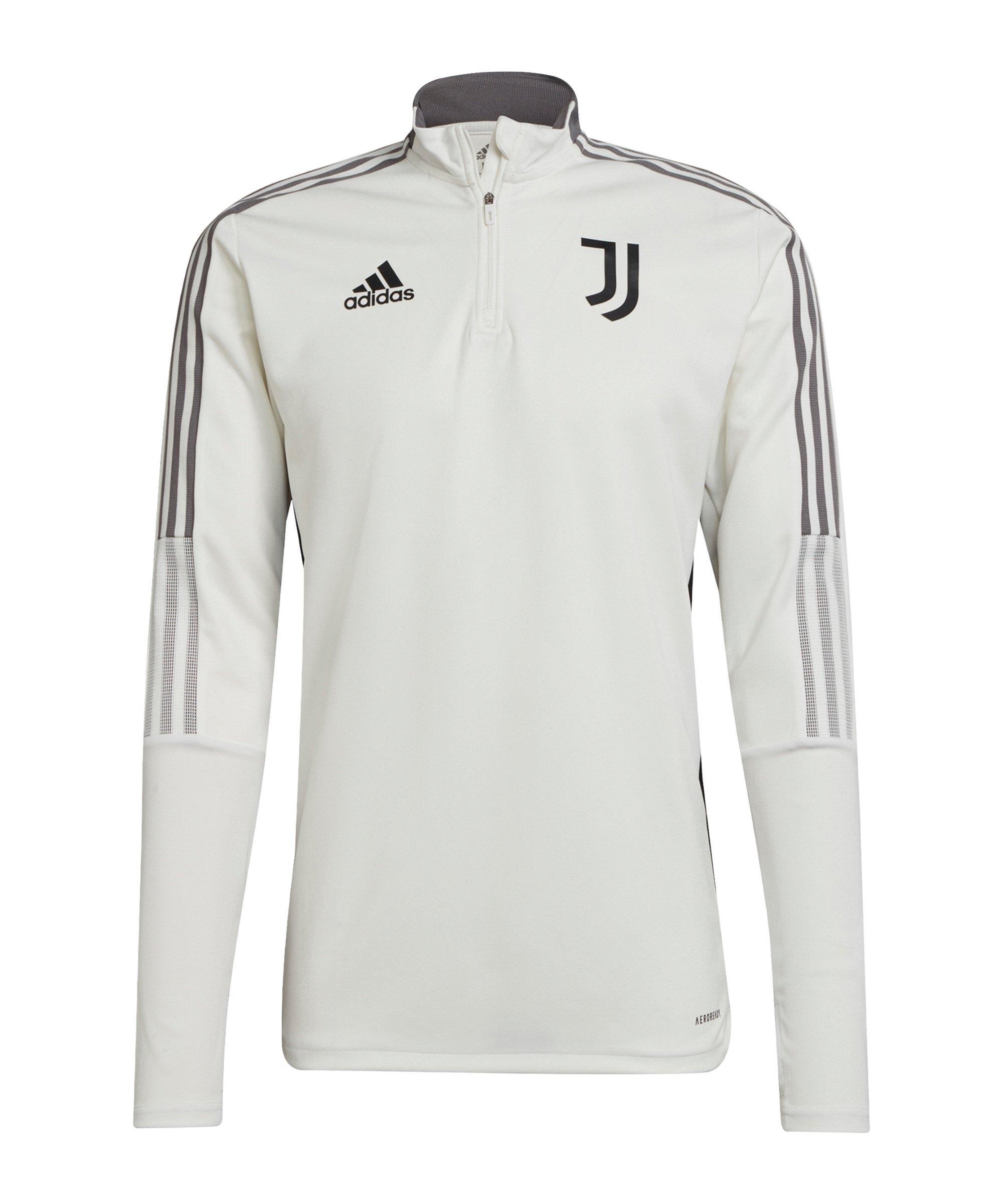 adidas Juventus Turin HalfZip Sweatshirt Weiss - weiss