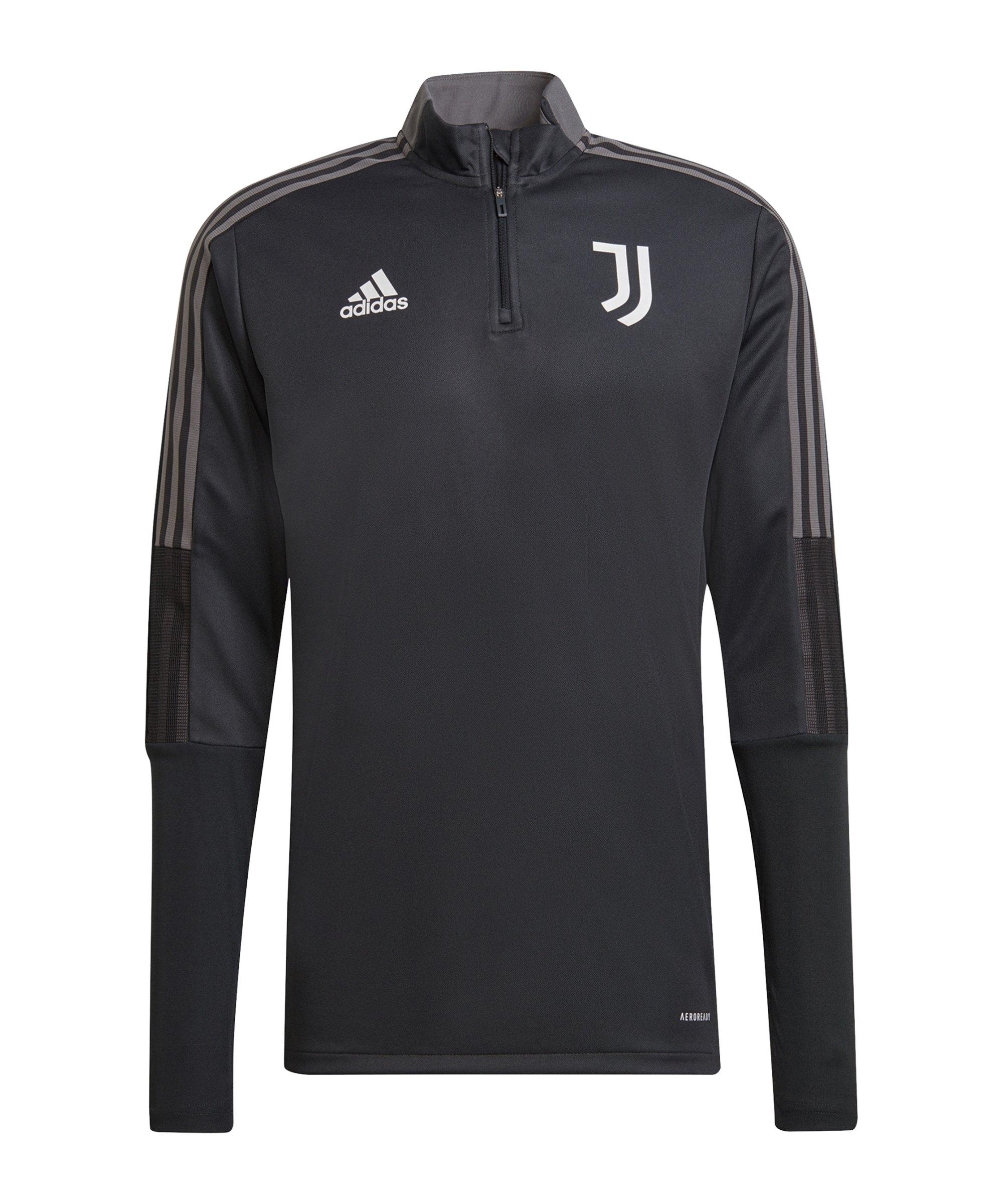 adidas Juventus Turin HalfZip Sweatshirt Grau - grau