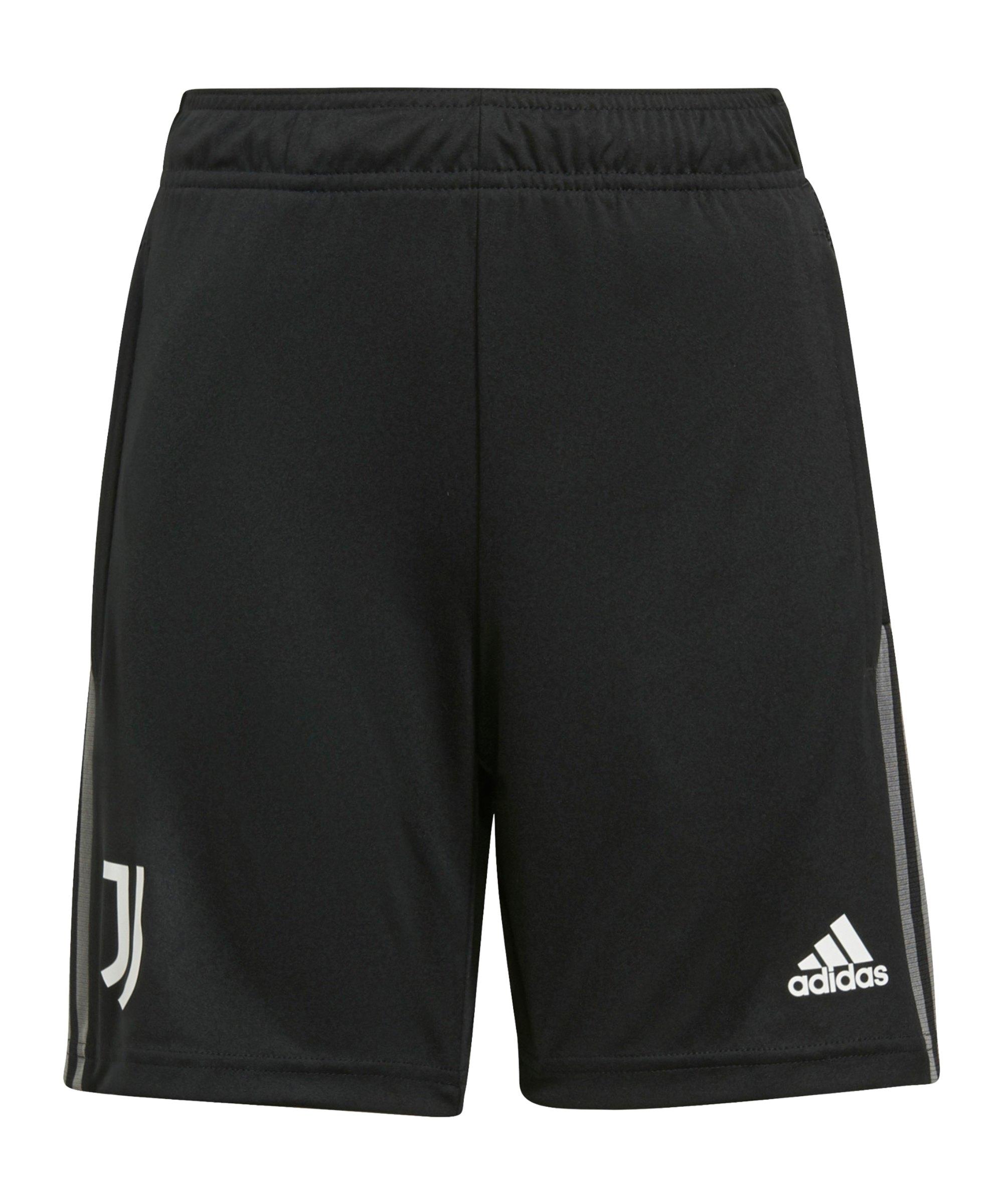 adidas Juventus Turin Trainingsshort Kids Schwarz - schwarz