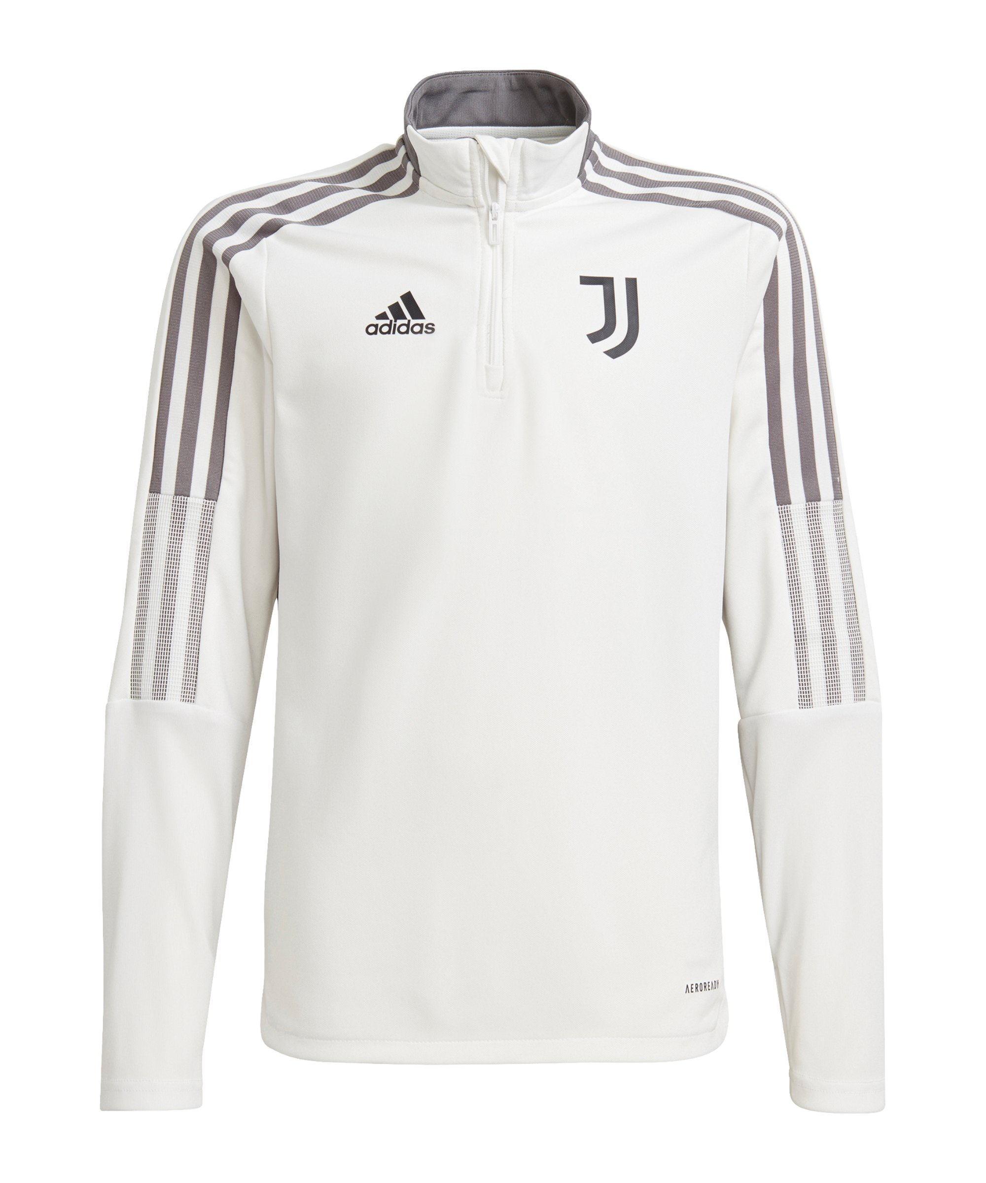 adidas Juventus Turin HalfZip Sweatshirt Kids Weiss - weiss