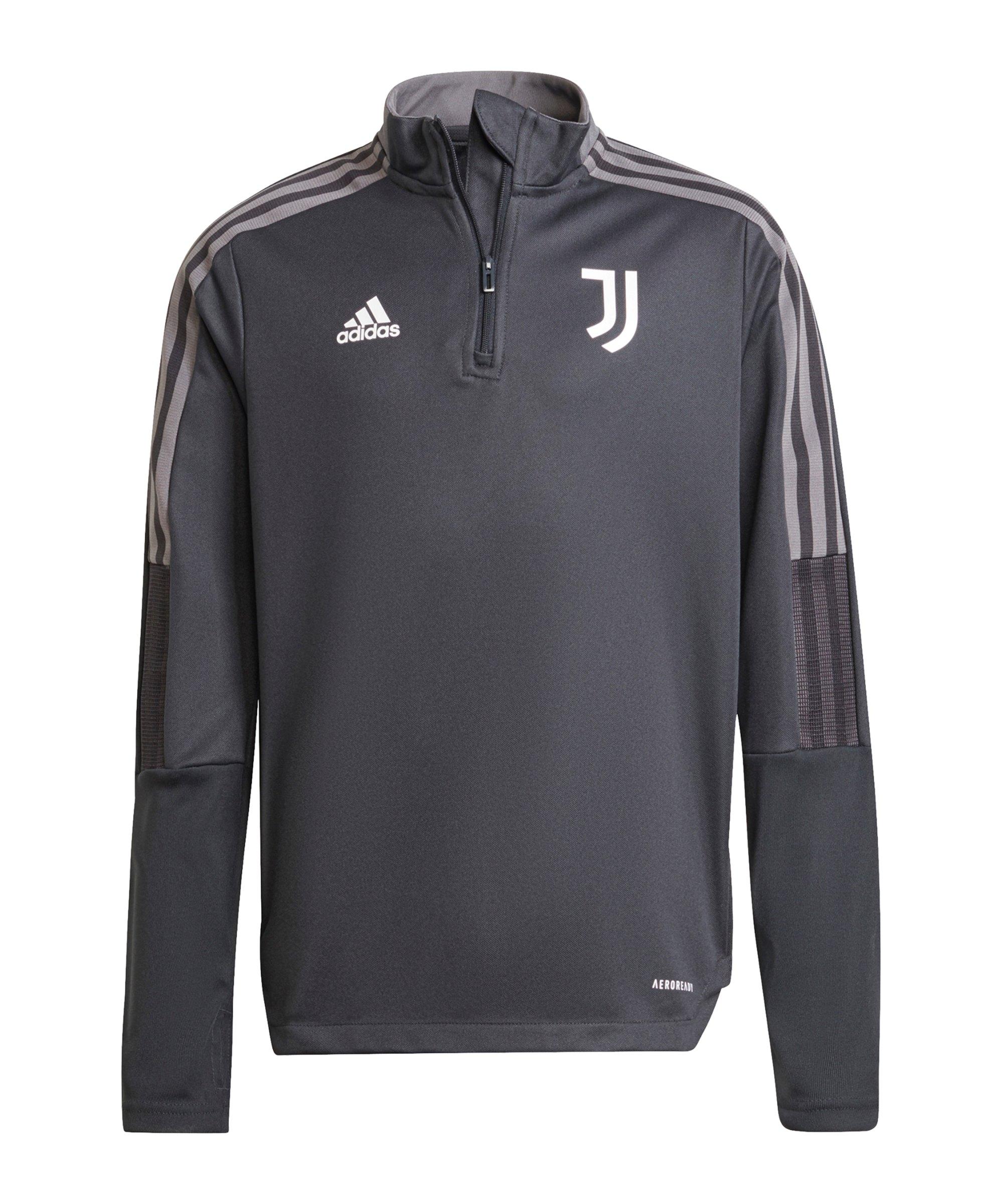 adidas Juventus Turin HalfZip Sweatshirt Kids Grau - grau