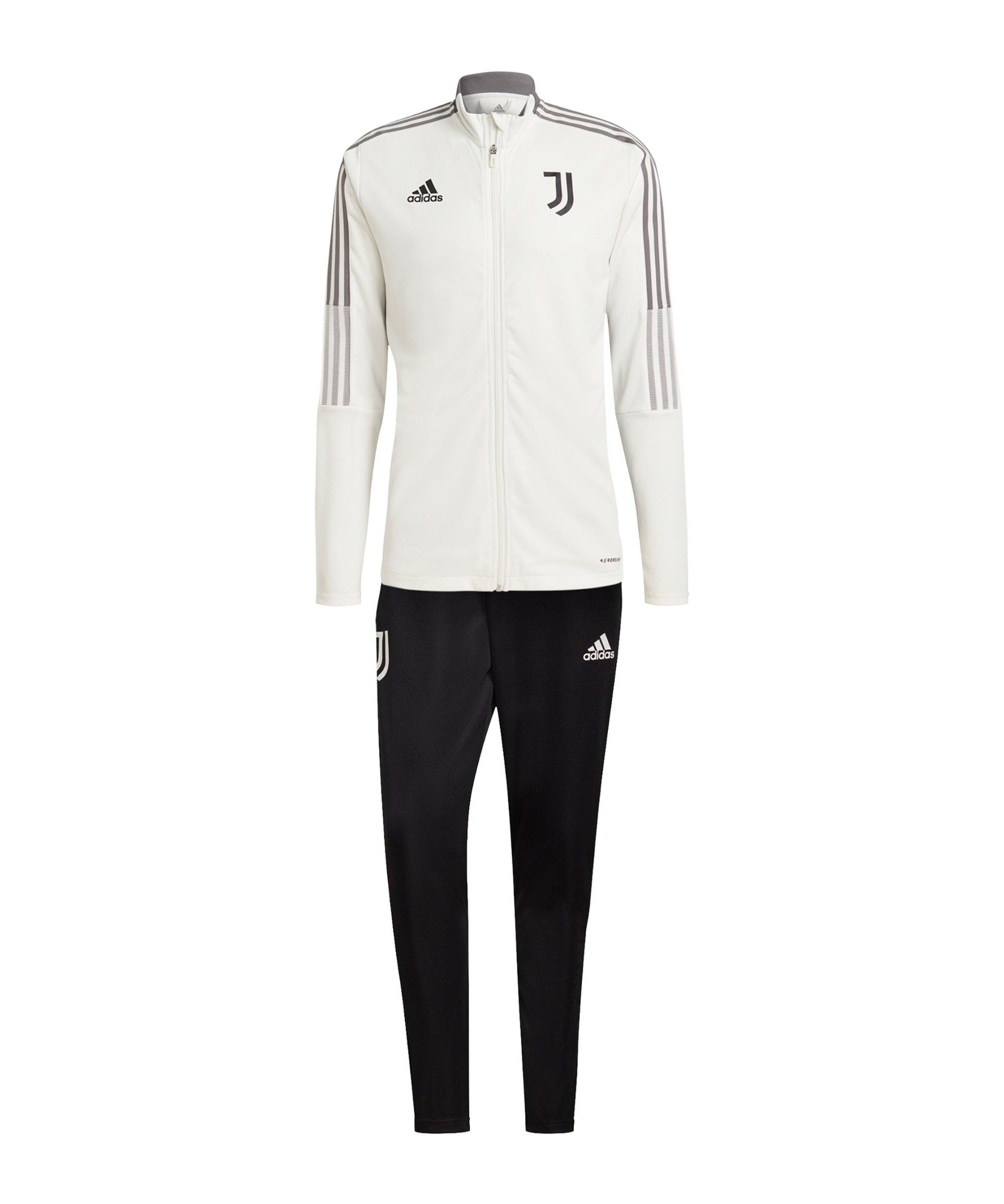 adidas Juventus Turin Trainingsanzug Weiss - weiss